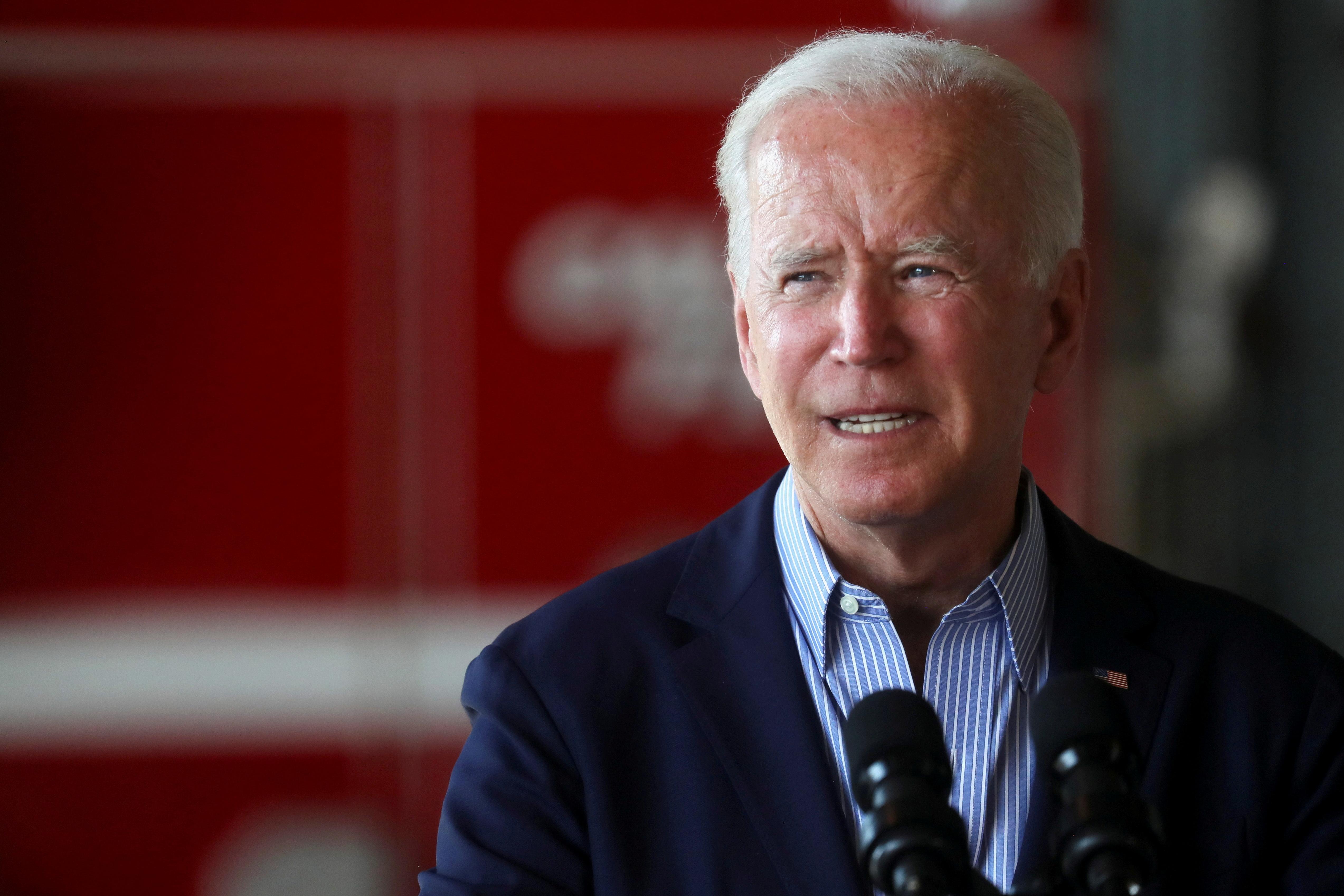 U.S. President Joe Biden gives remarks at Mather Airport, California, U.S., September 13, 2021. REUTERS/Leah Millis
