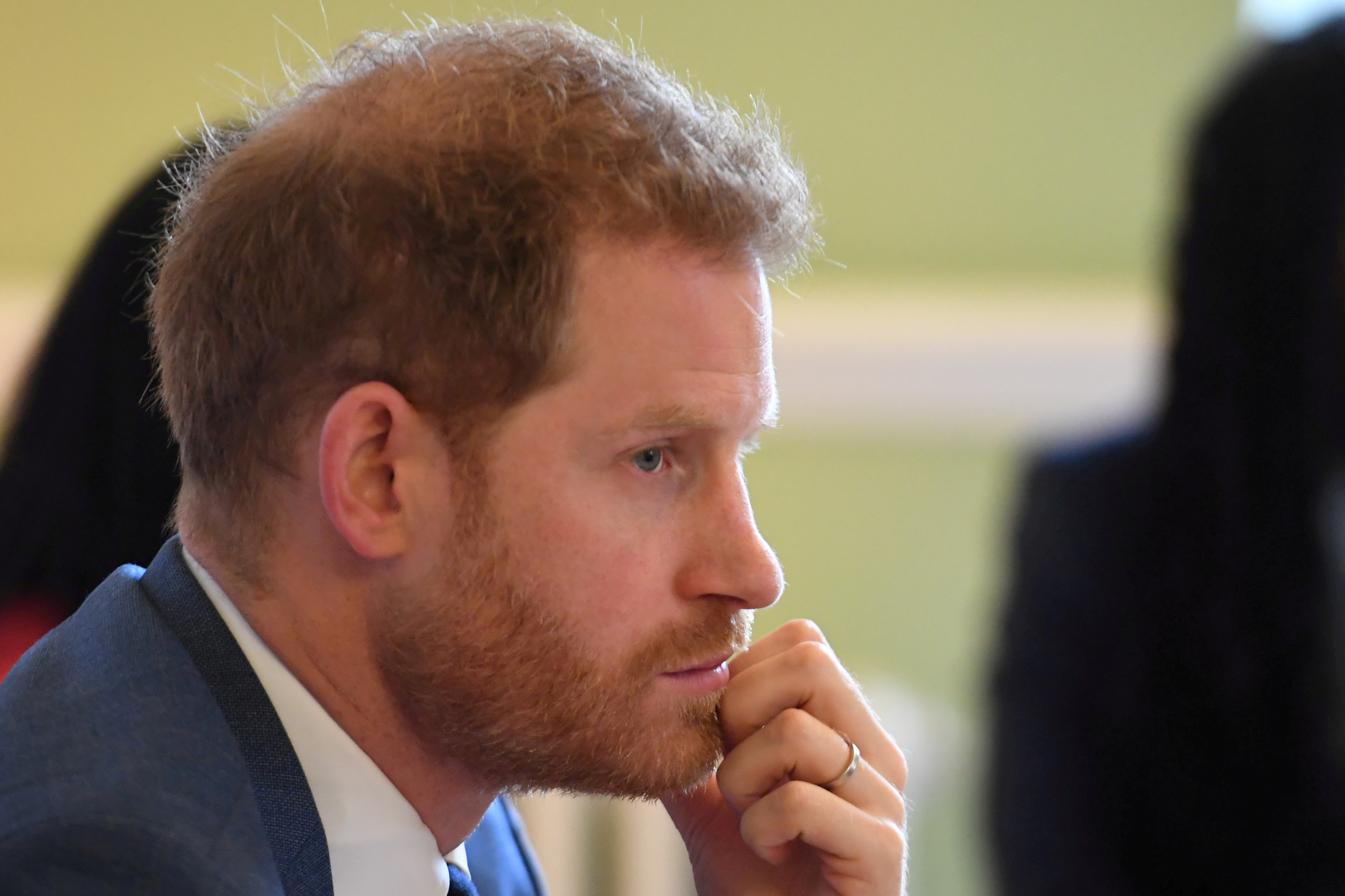 Britain's Prince Harry, Duke of Sussex, attends a roundtable discussion on gender equality with The Queen's Commonwealth Trust (QCT) and One Young World at Windsor Castle, Windsor, Britain October 25, 2019. Jeremy Selwyn/Pool via REUTERS/File Photo