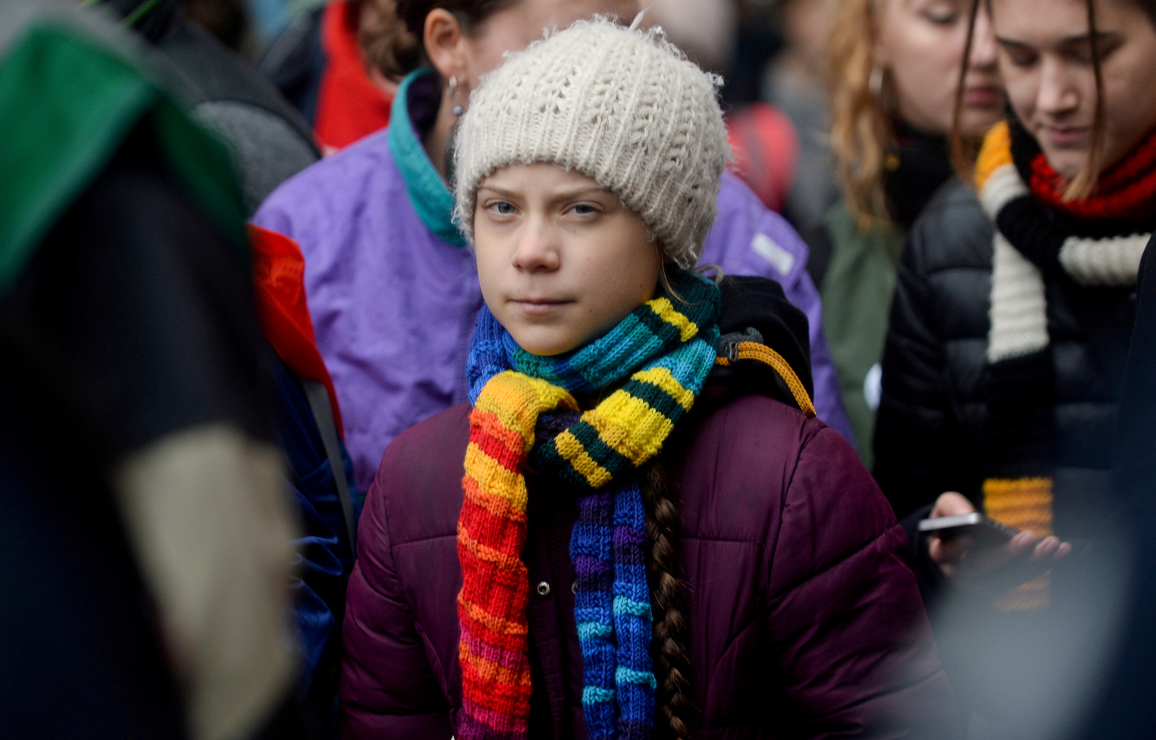 Swedish climate activist Greta Thunberg takes part in the rally ''Europe Climate Strike'' in Brussels, Belgium, March 6, 2020. REUTERS/Johanna Geron/File Photo