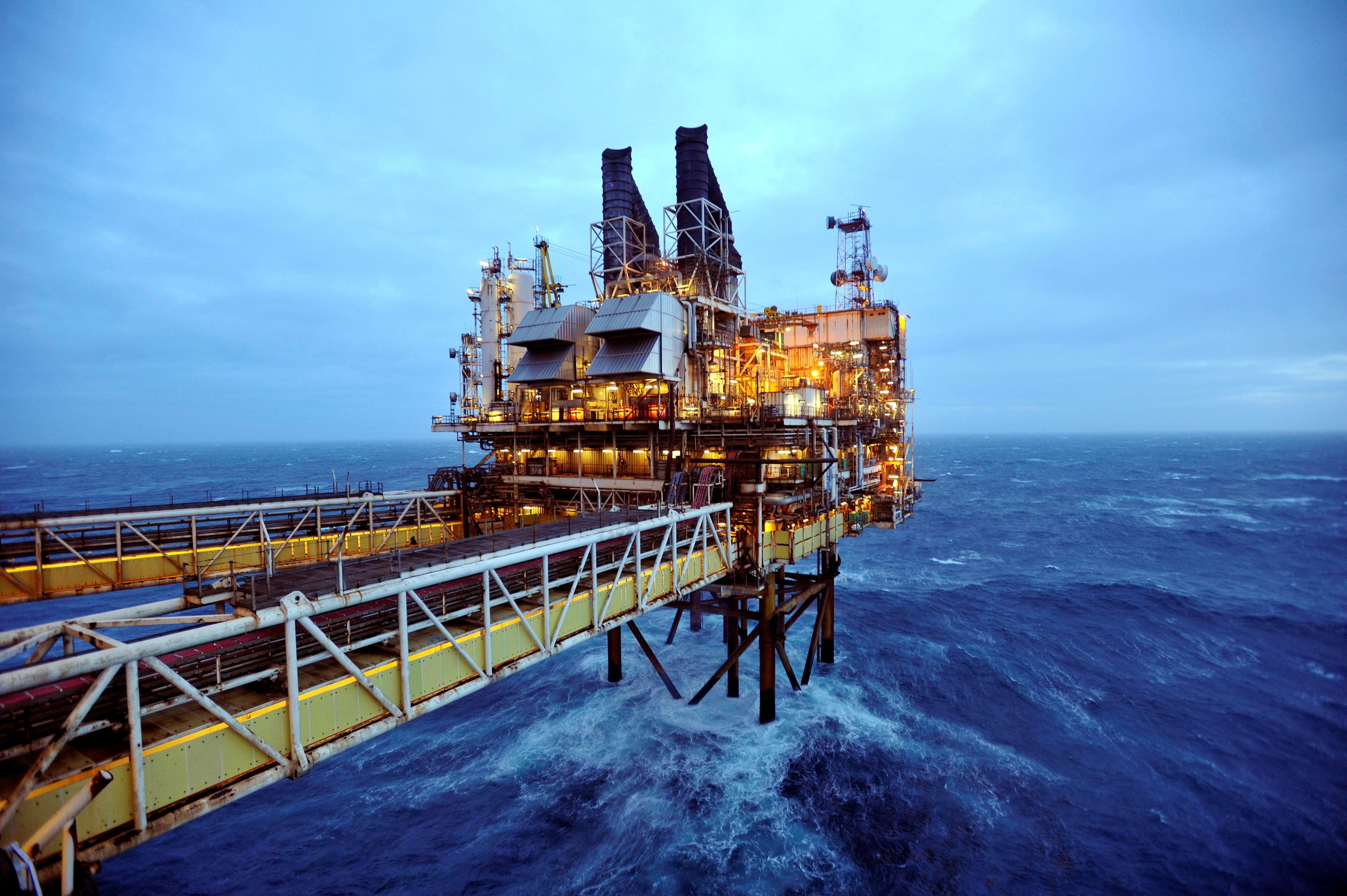 A section of the BP Eastern Trough Area Project (ETAP) oil platform is seen in the North Sea, about 100 miles east of Aberdeen in Scotland, February 24, 2014. REUTERS/Andy Buchanan