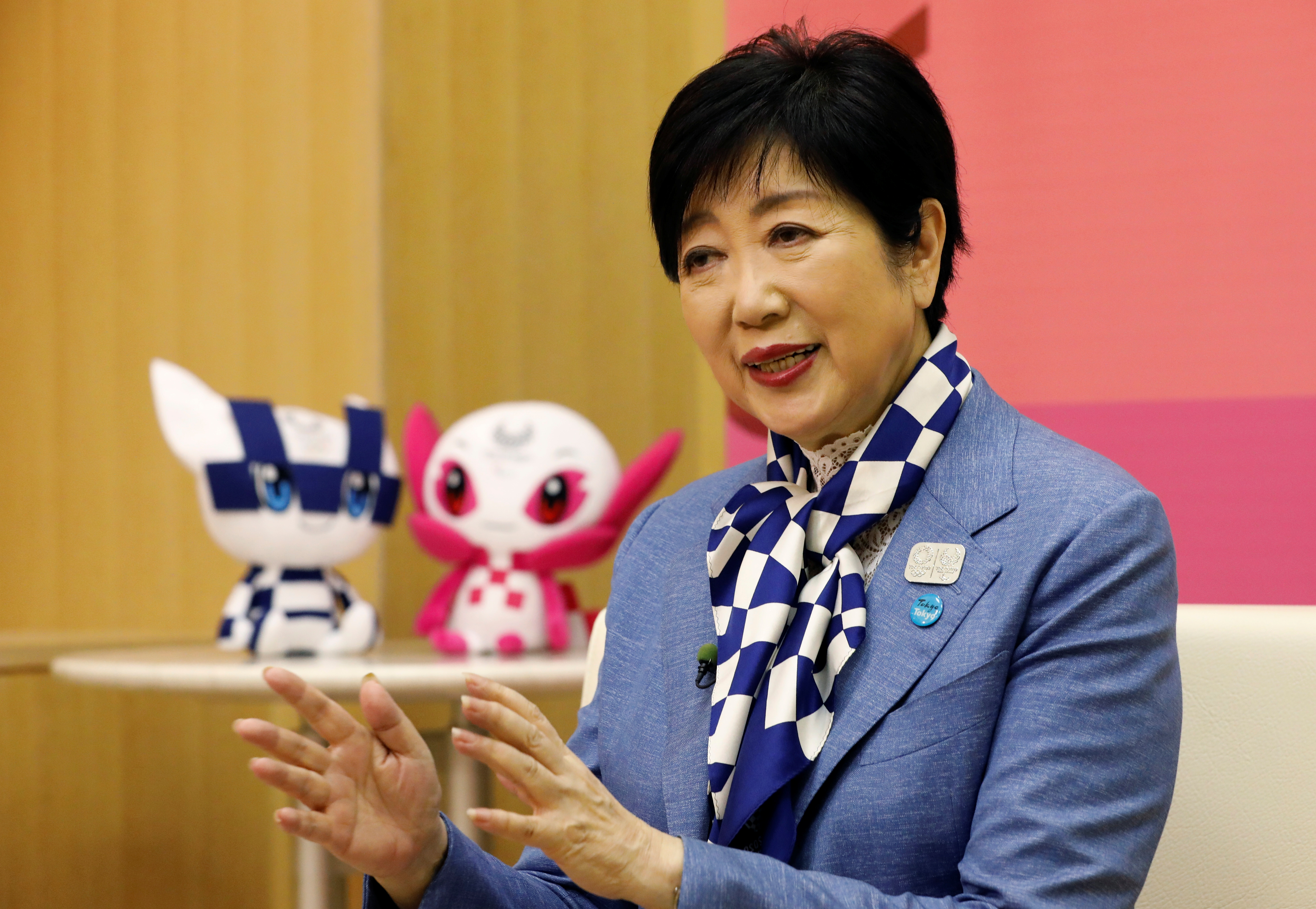Tokyo governor Yuriko Koike speaks at an interview with Reuters in Tokyo, Japan, July 13, 2021.   REUTERS/Kim Kyung-Hoon