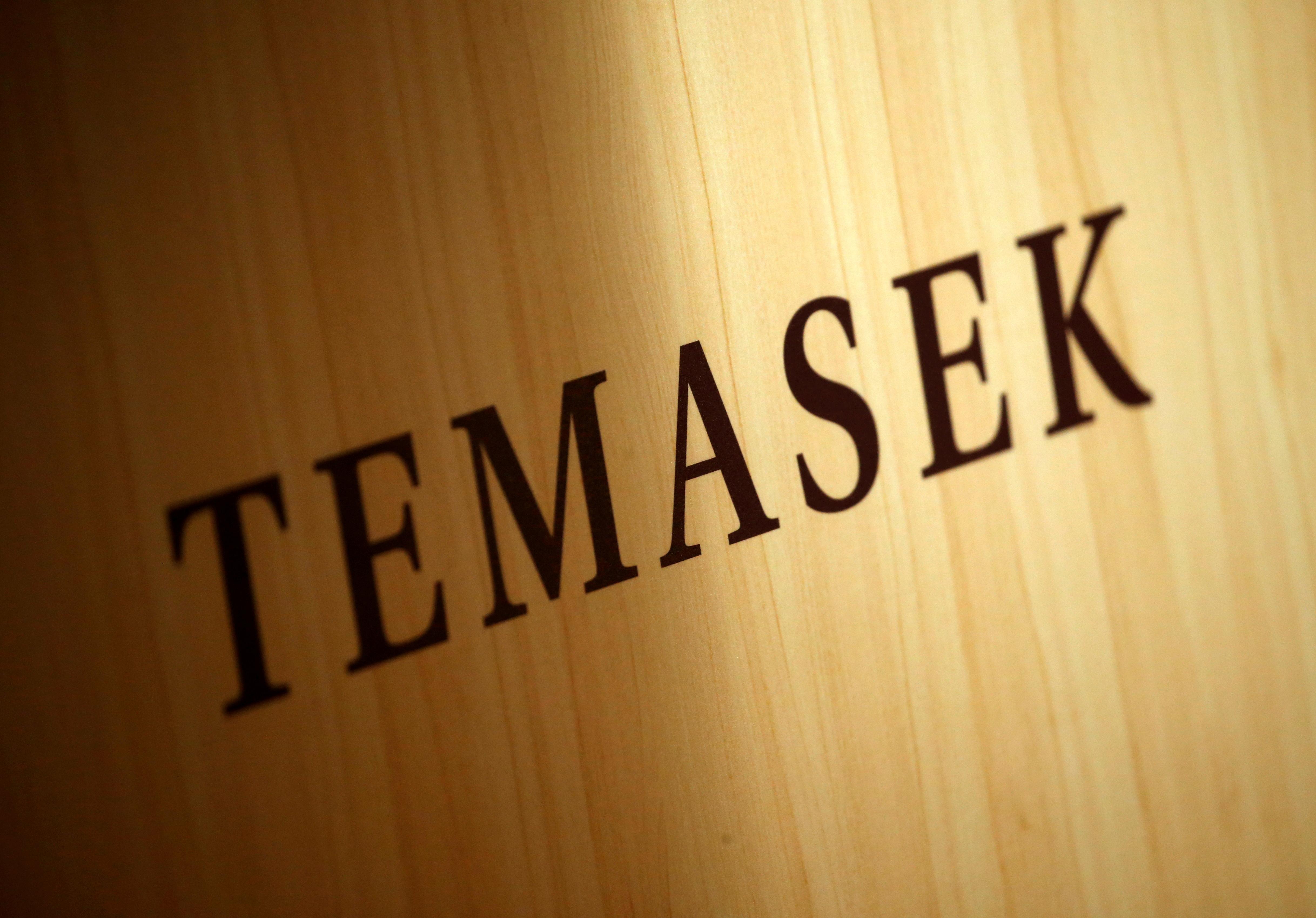 A Temasek logo is seen at the annual Temasek Review in Singapore July 7, 2016. REUTERS/Edgar Su/File Photo