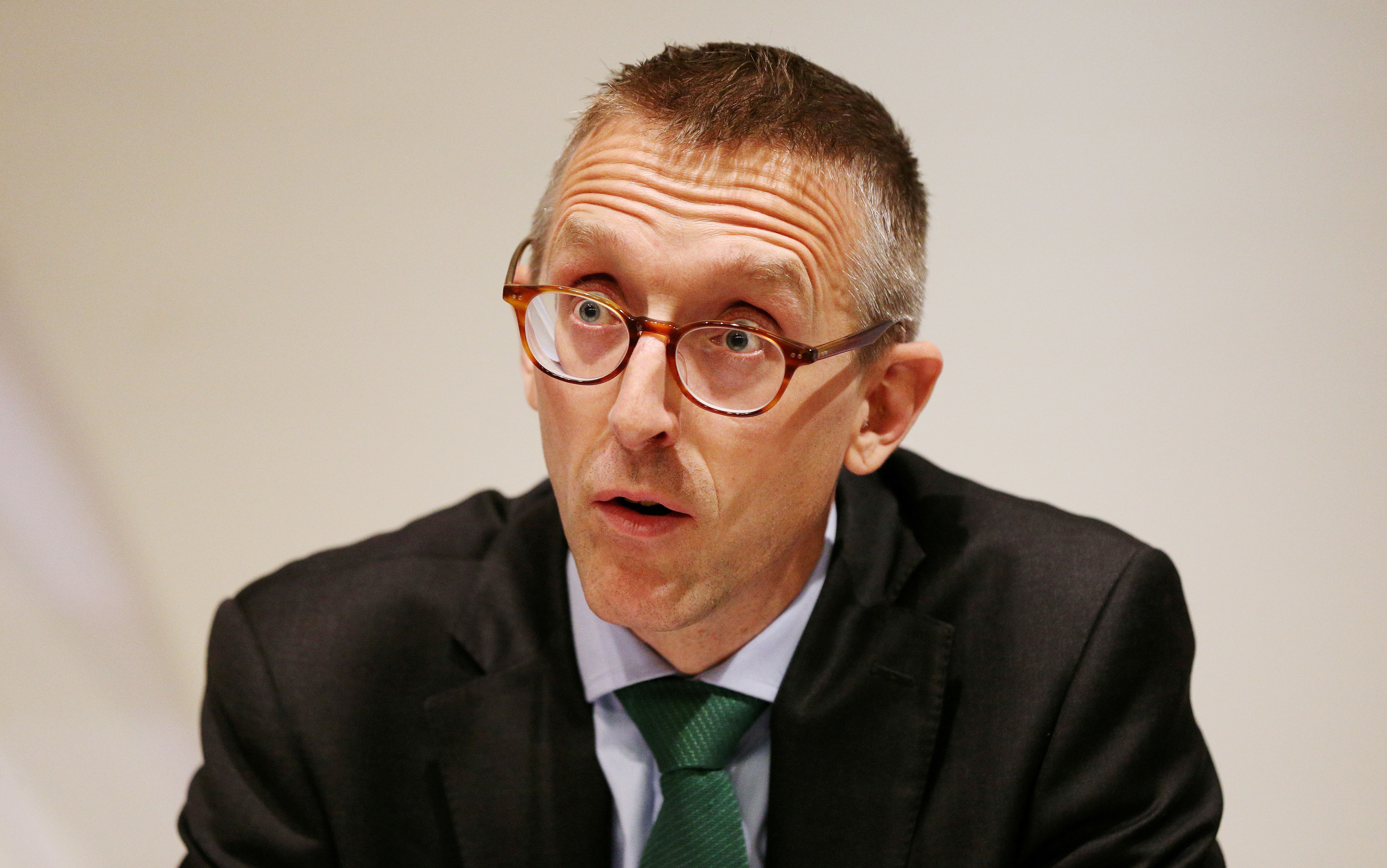 Britain's Deputy Governor for Prudential Regulation and Chief Executive Officer of the Prudential Regulation Authority Sam Woods speaks during the Bank of England's financial stability report at the Bank of England in the City of London, Britain June 27, 2017.  REUTERS/ Jonathan Brady/Pool/File Photo