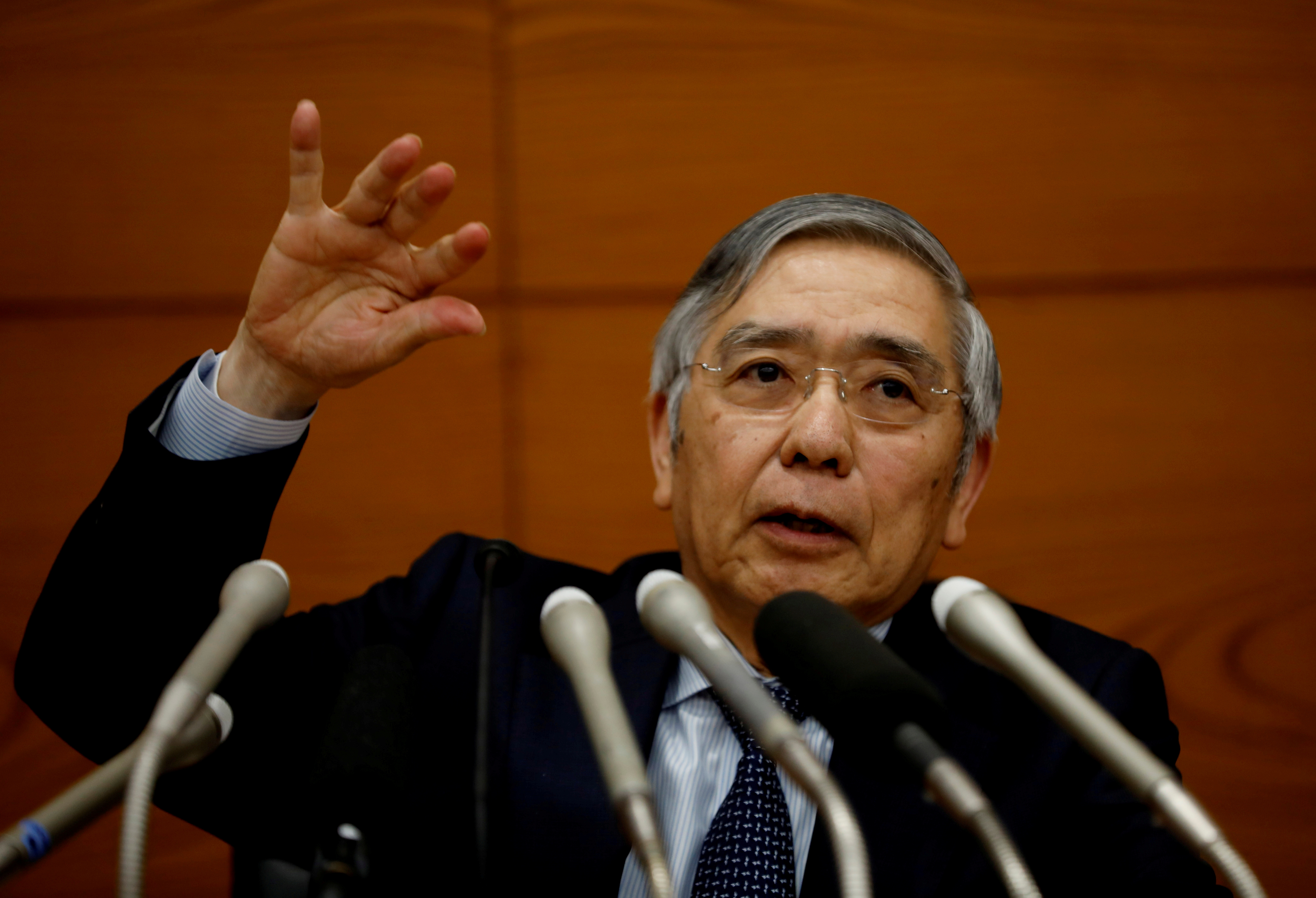 Bank of Japan Governor Haruhiko Kuroda speaks at a news conference in Tokyo, Japan, December 19, 2019. REUTERS/Kim Kyung-Hoon