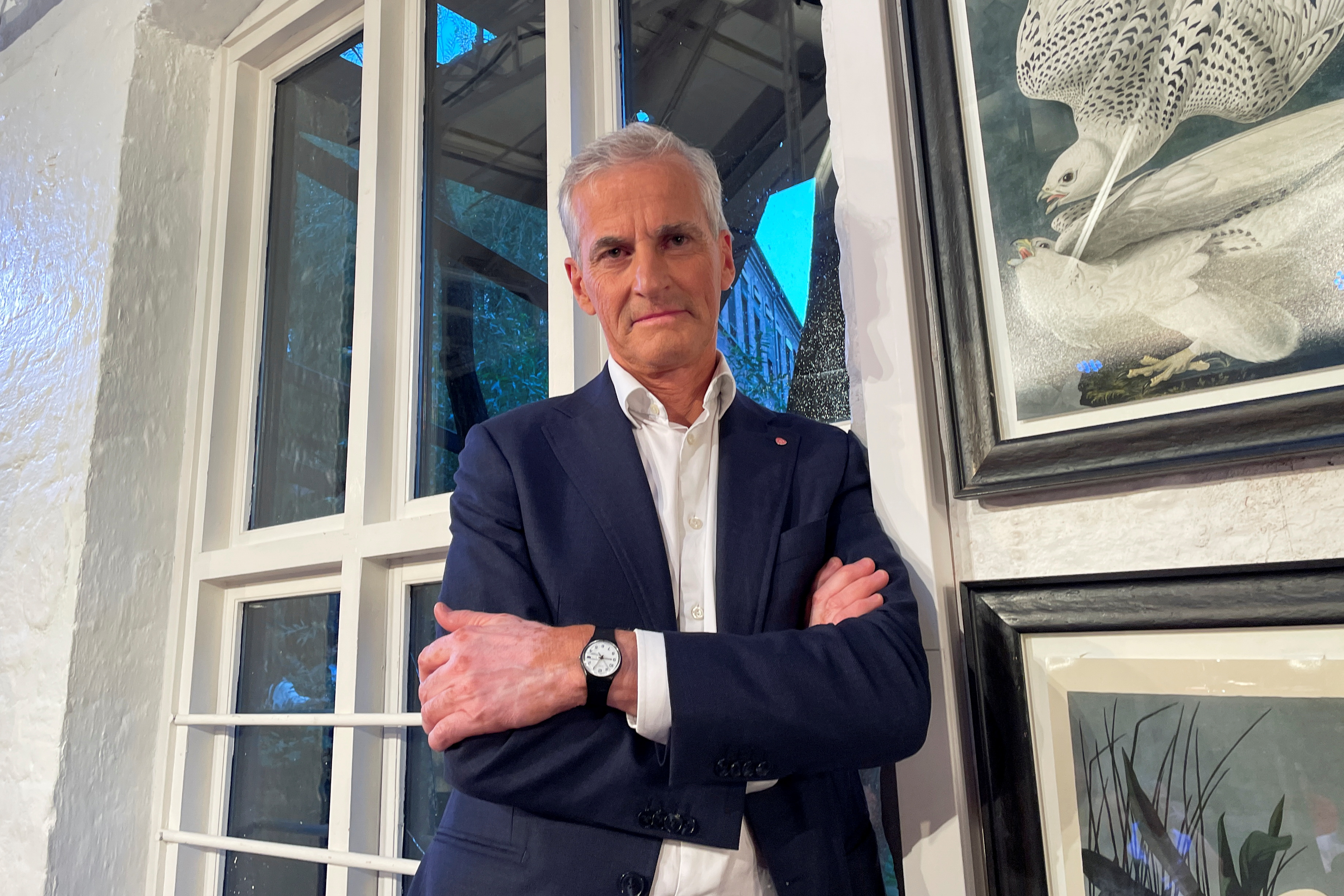 Candidate for Norway's prime minister Jonas Gahr Stoere from Labour Party poses for a picture in central Oslo, Norway August 9, 2021. Picture taken August 9, 2021. REUTERS/Gwladys Fouche