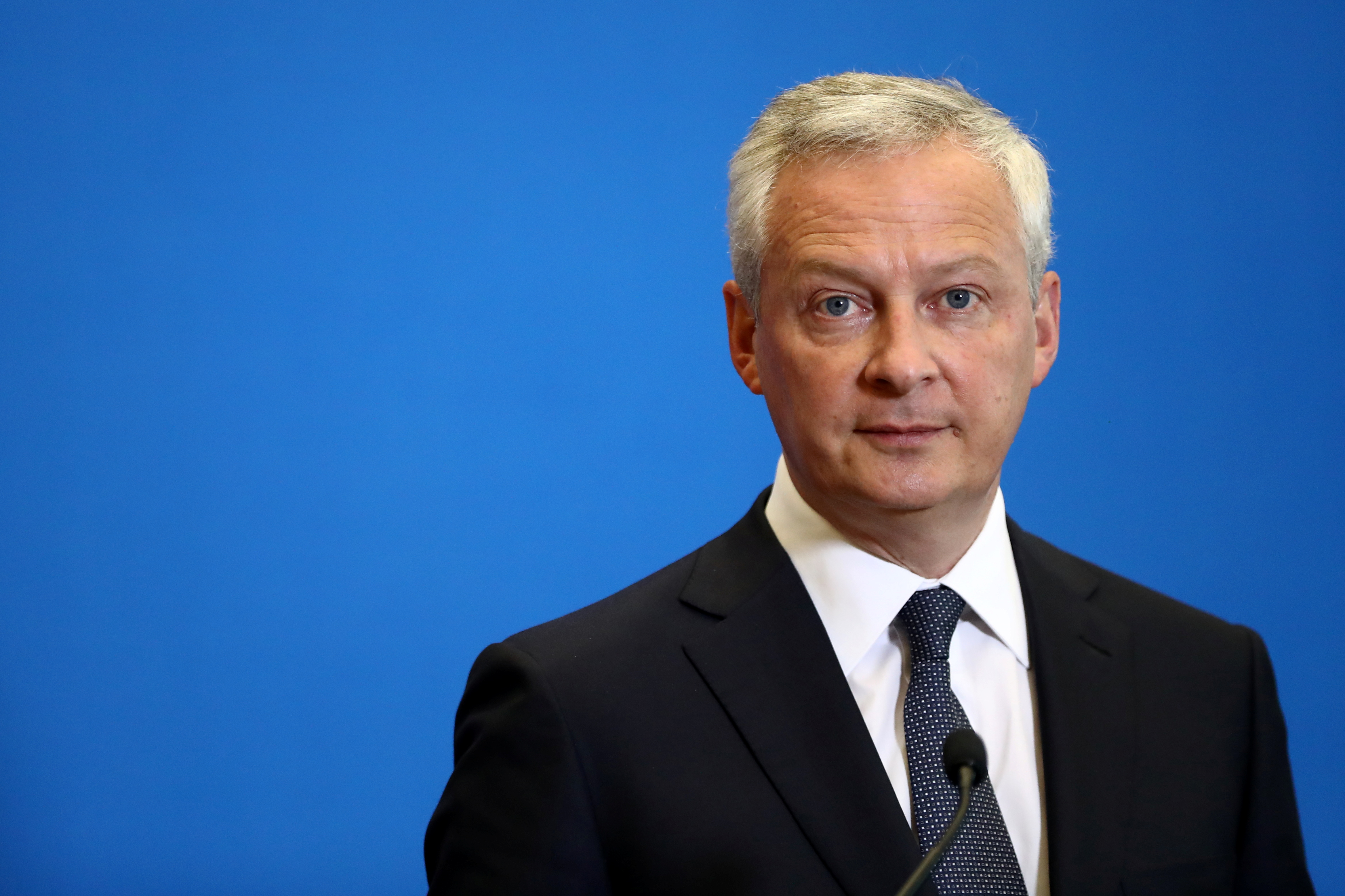French Economy and Finance Minister Bruno Le Maire attends a news conference after a meeting with business federations about when crisis support measures should be wound down, at the Bercy Finance Ministry in Paris, France, August 30, 2021. REUTERS/Sarah Meyssonnier/Files