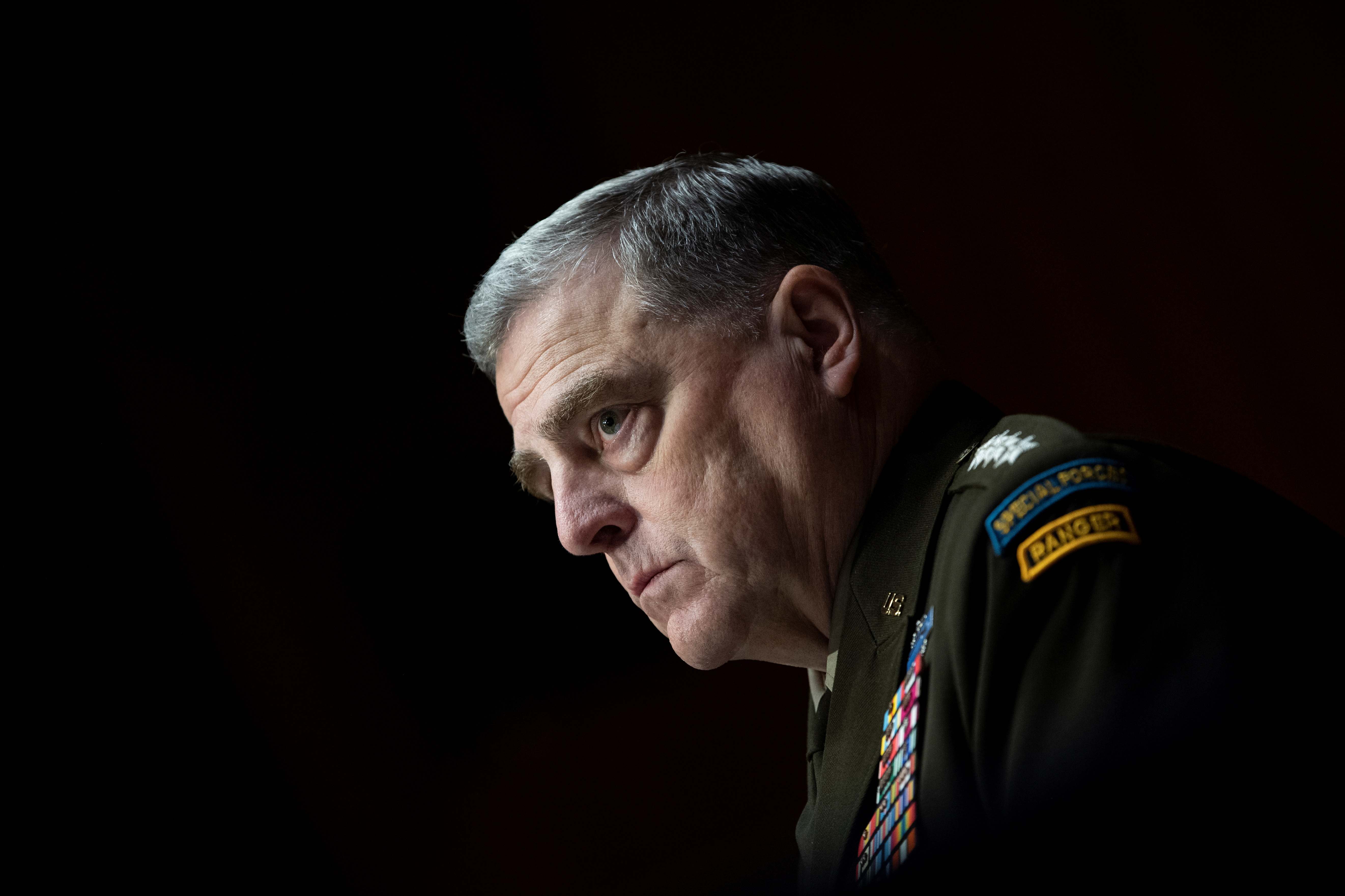 Chairman of the Joint Chiefs of Staff Gen. Mark Milley looks on during a Senate Appropriations Committee hearing in Washington, U.S. June 17, 2021. Caroline Brehman/Pool via Reuters
