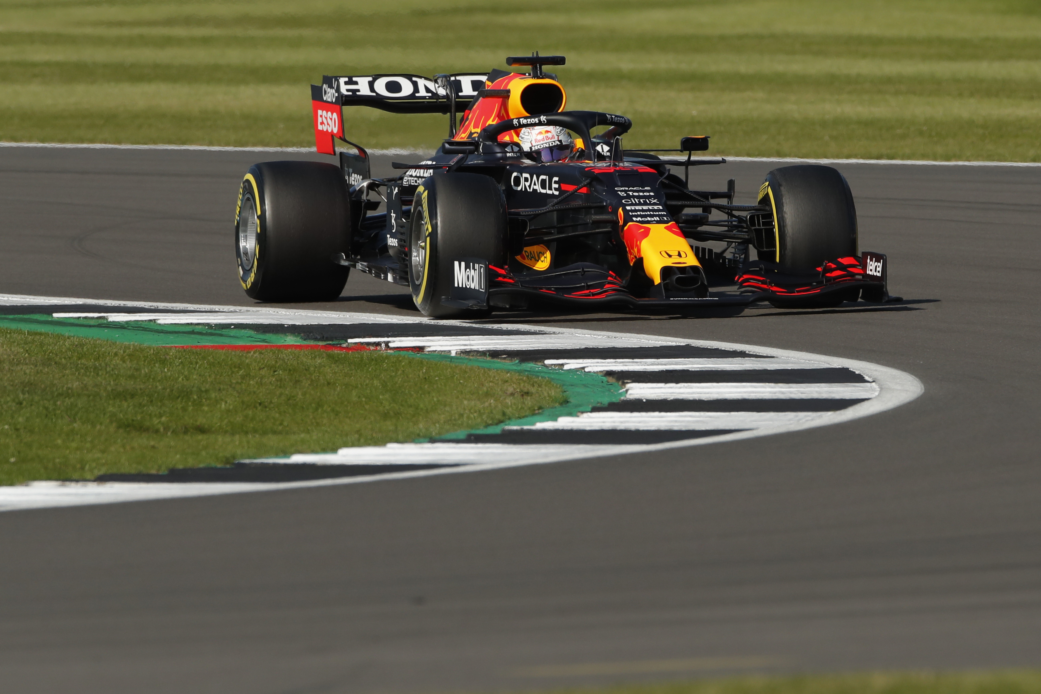 Formula One F1 - British Grand Prix - Silverstone Circuit, Silverstone, Britain - July 17, 2021 Red Bull's Max Verstappen during sprint qualifying REUTERS/Andrew Couldridge