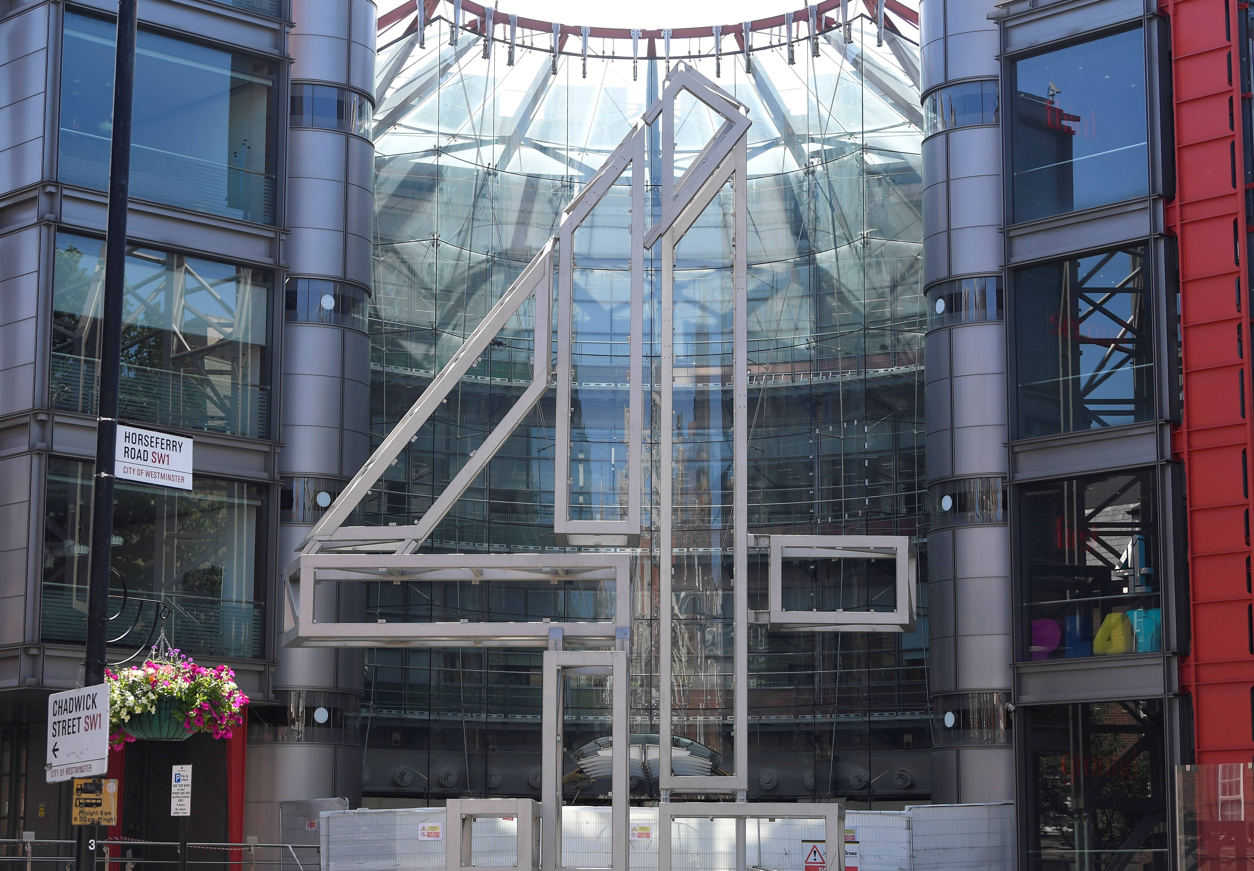 Channel 4 television channel offices are seen in London, Britain, June 23, 2021. REUTERS/Toby Melville