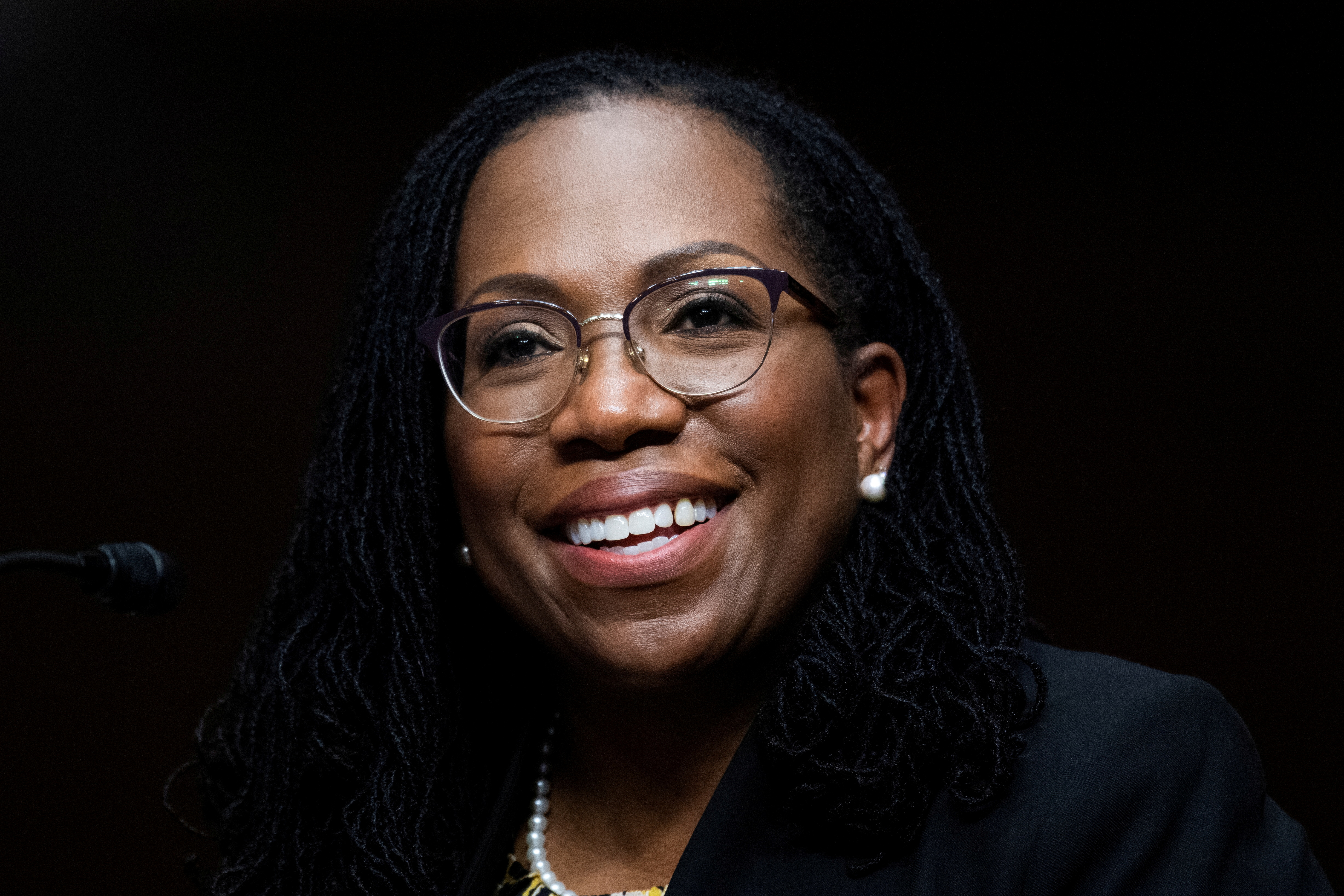 Ketanji Brown Jackson, nominated to be a U.S. Circuit Judge for the District of Columbia Circuit, testifies before a Senate Judiciary Committee hearing on pending judicial nominations on Capitol Hill in Washington, U.S., April 28, 2021. Tom Williams/Pool via REUTERS