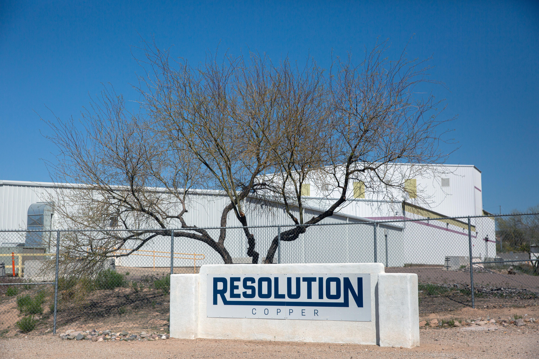 A Resolution Copper facility in Superior, Arizona, U.S., March 30, 2021. Picture taken March 30, 2021.  REUTERS/Caitlin O'Hara/File Photo