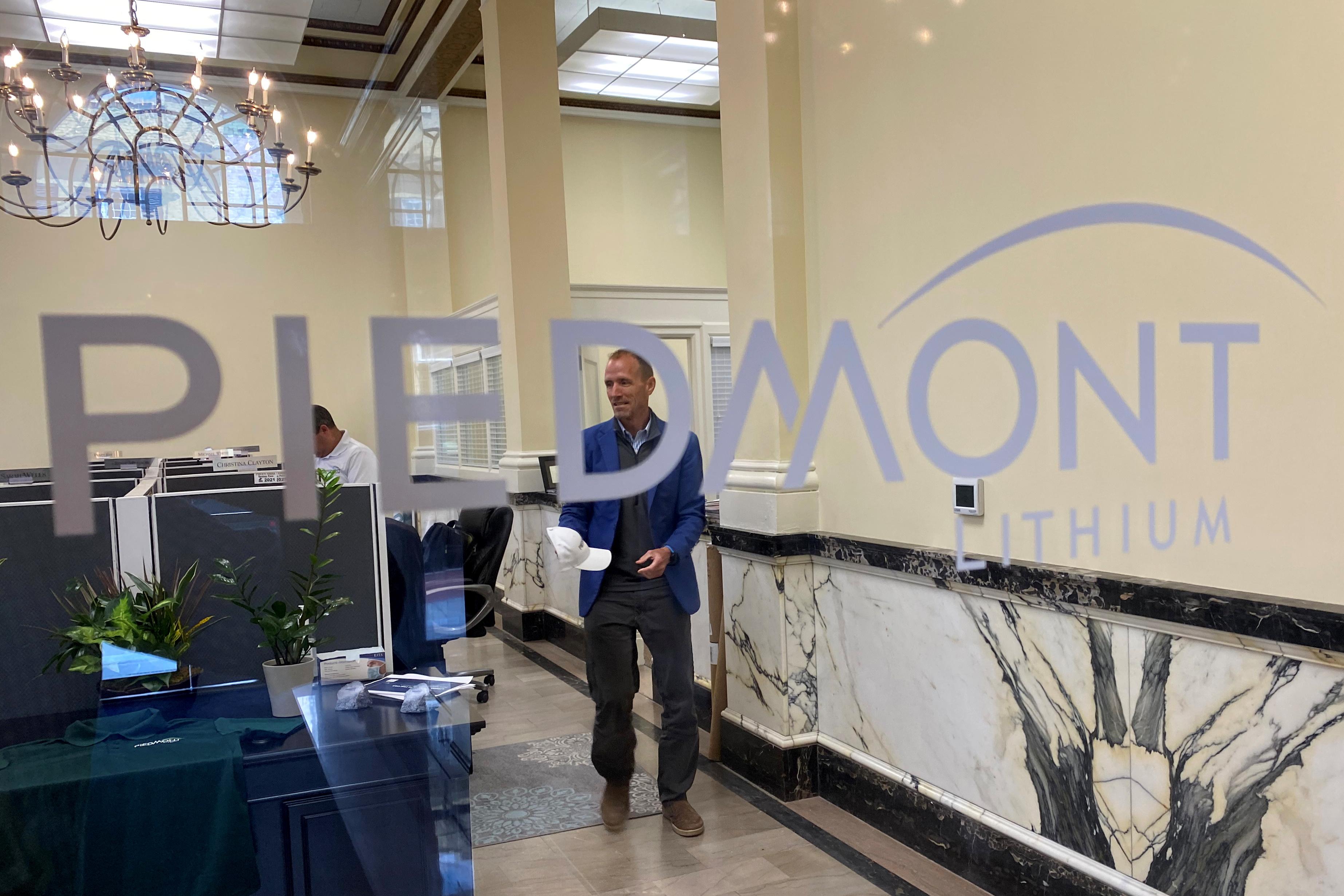 Piedmont Lithium's headquarters is seen in Belmont, Gaston County, North Carolina, U.S., July 16, 2021. REUTERS/Ernest Scheyder