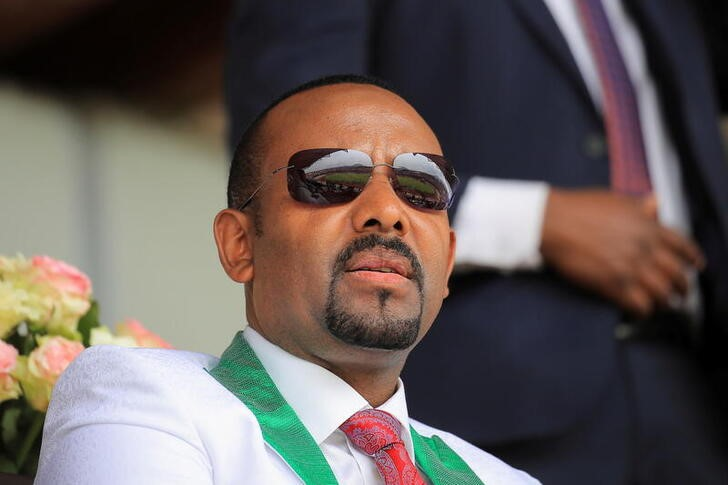 Ethiopian Prime Minister Abiy Ahmed attends his last campaign event ahead of Ethiopia's parliamentary and regional elections scheduled for June 21, in Jimma, Ethiopia, June 16, 2021. REUTERS/Tiksa Negeri
