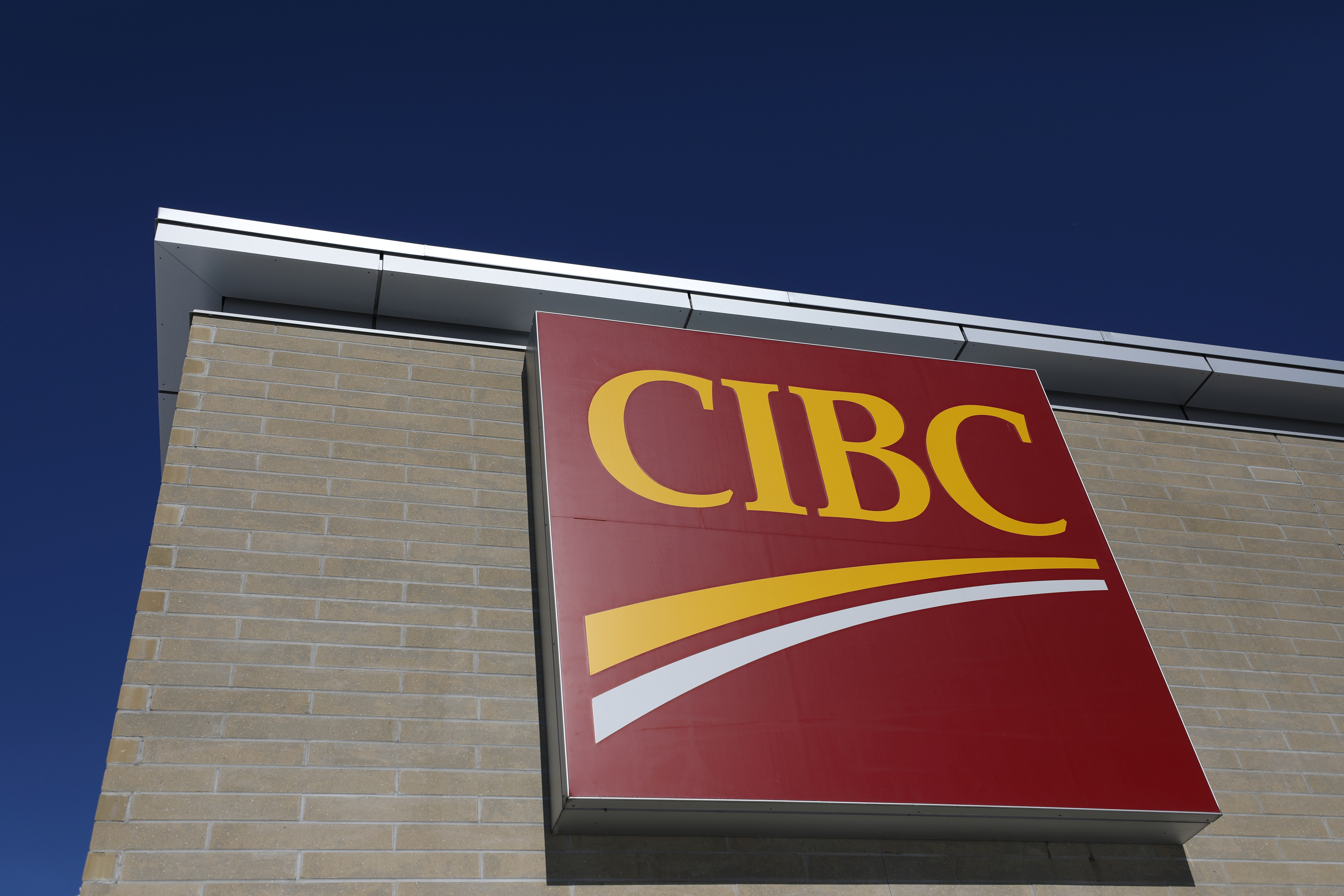 The Canadian Imperial Bank of Commerce (CIBC) logo is seen outside of a branch in Ottawa, Ontario, Canada, February 14, 2019. REUTERS/Chris Wattie