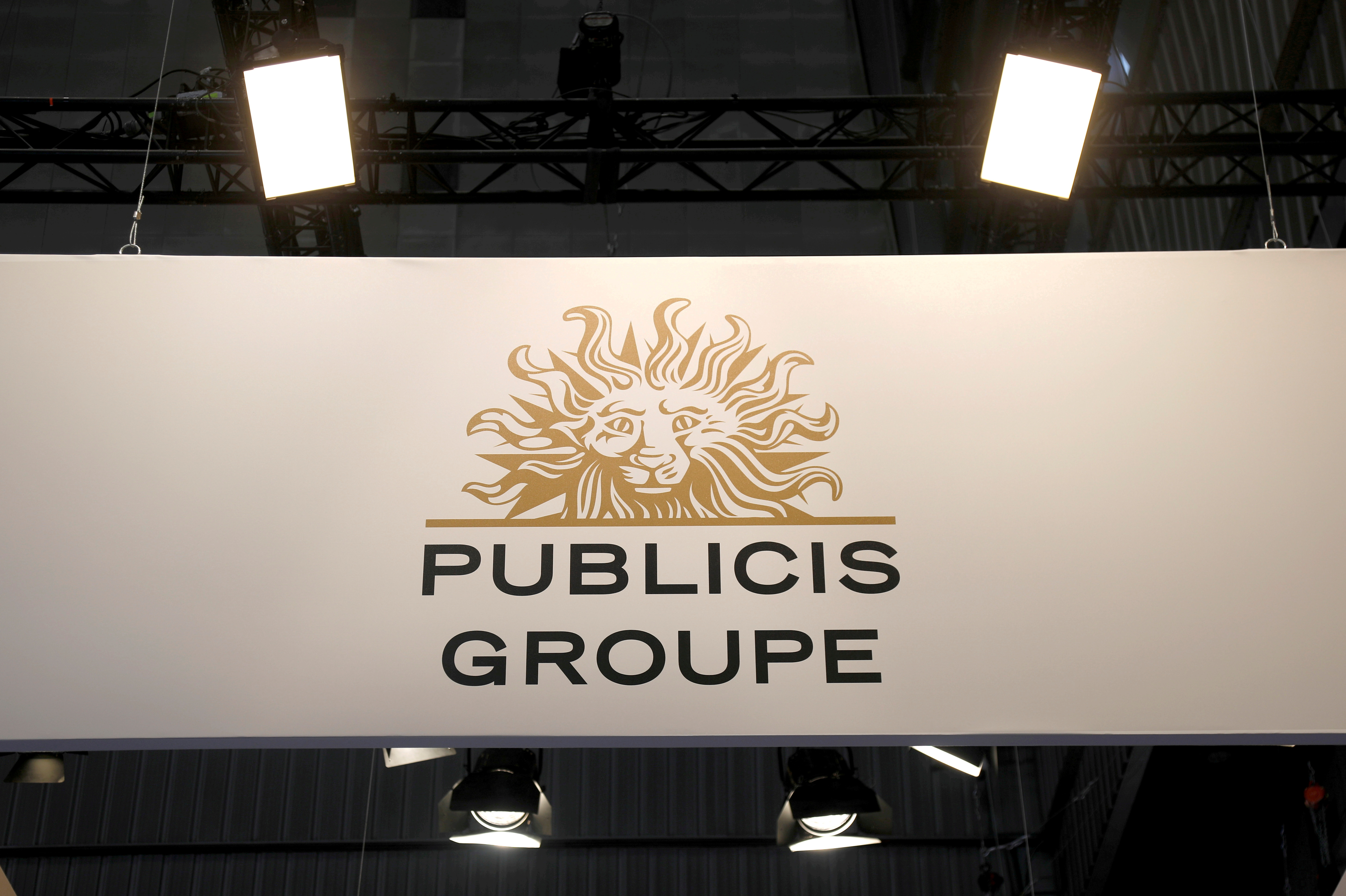The logo of Publicis group is seen at the high profile startups and high tech leaders gathering, Viva Tech,in Paris, France May 16, 2019. REUTERS/Charles Platiau