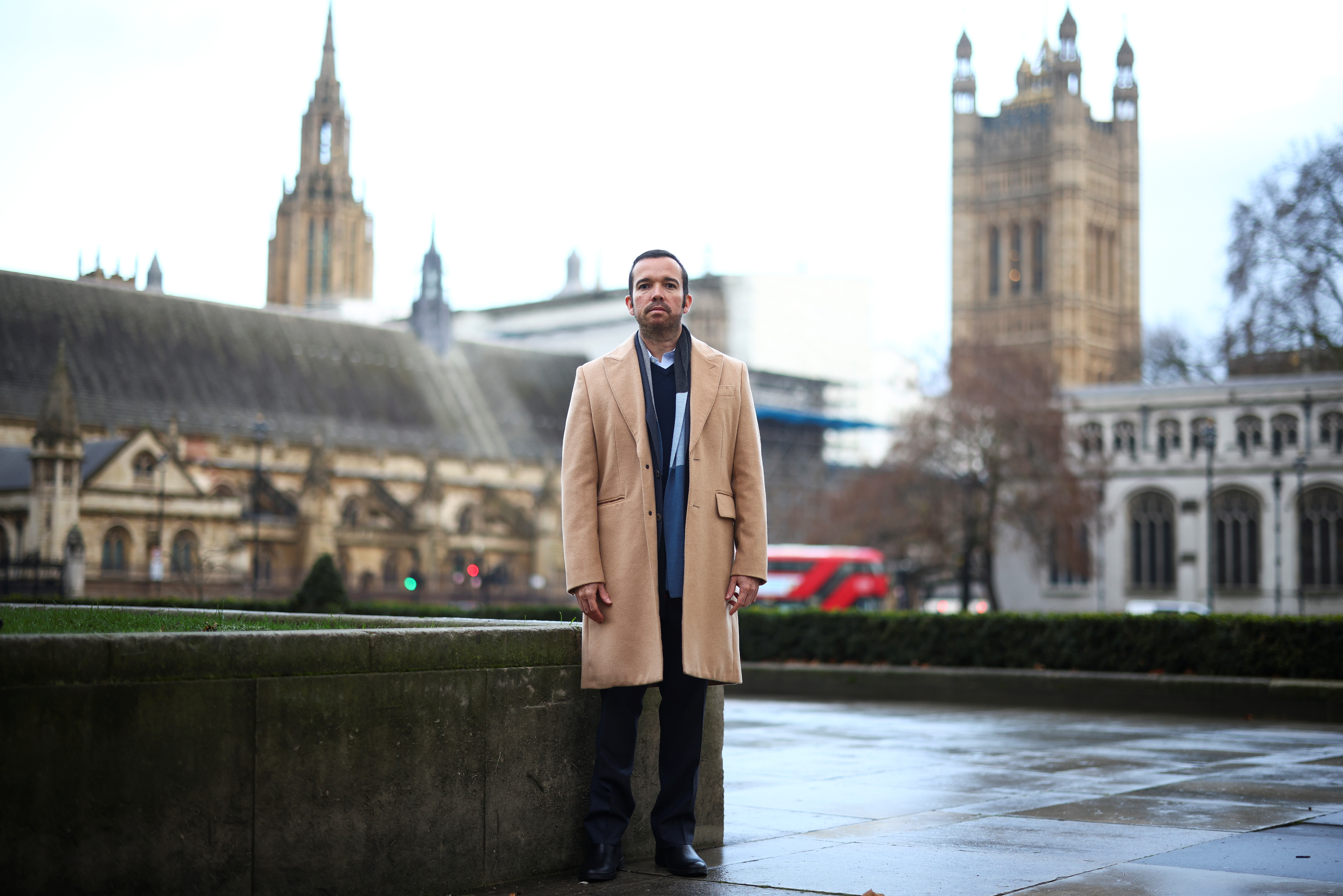 Antonio Mugica, CEO of Smartmatic, poses near to Houses of Parliament in London, Britain, December 11, 2020. Picture taken December 11, 2020. REUTERS/Henry Nicholls