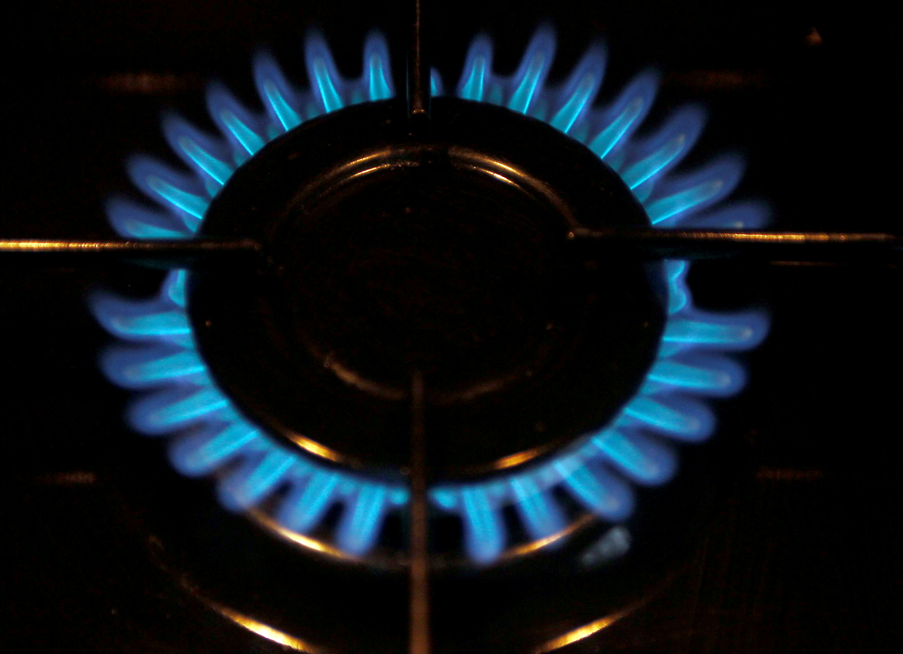 A gas burner is pictured on a cooker in a private home in Bordeaux, soutwestern France, December 13, 2012. REUTERS/Regis Duvignau