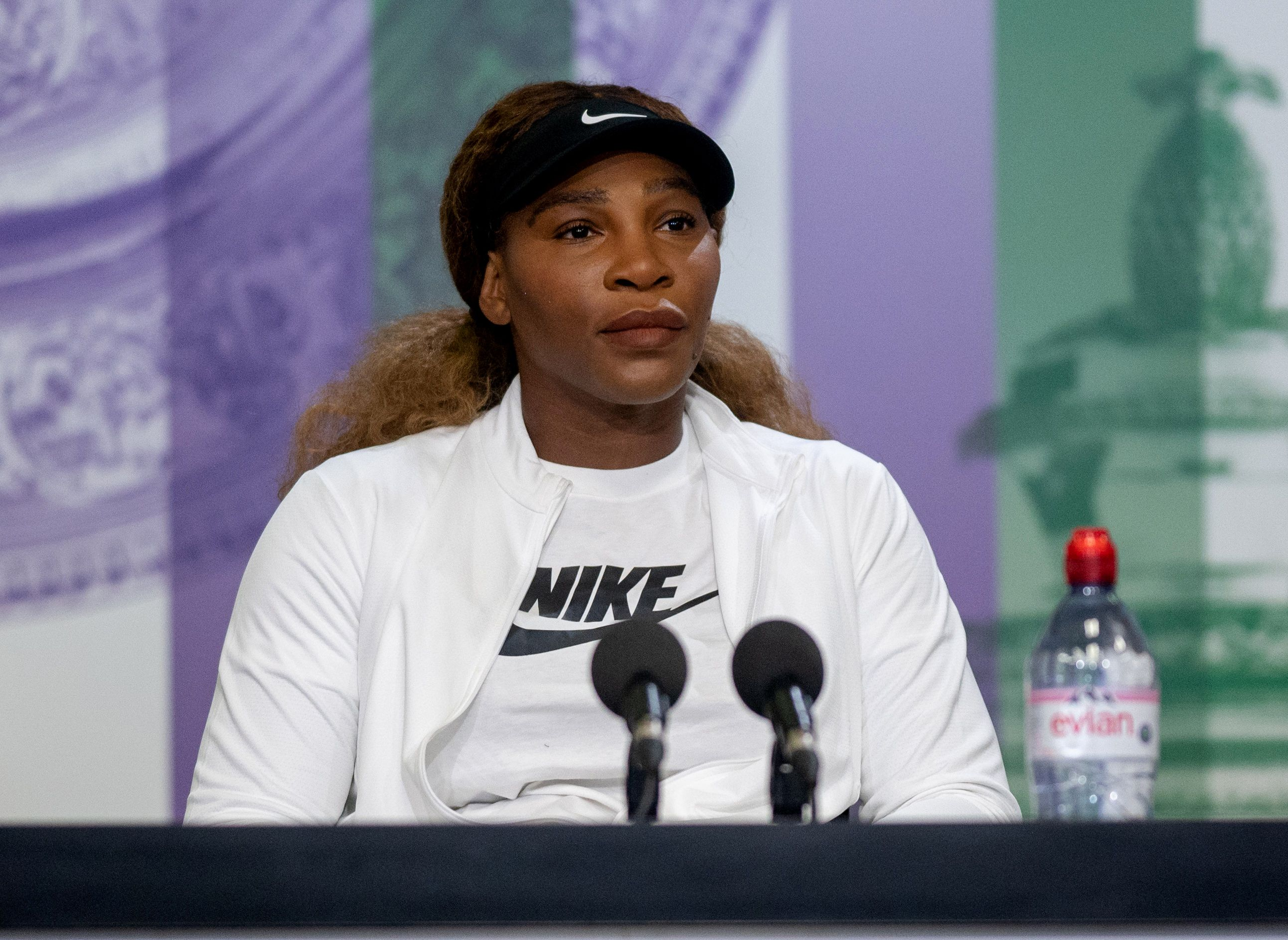 Tennis - Wimbledon - All England Lawn Tennis and Croquet Club, London, Britain - June 27, 2021 Serena Williams of the U.S. during a press conference Pool via REUTERS/Florian Eisele
