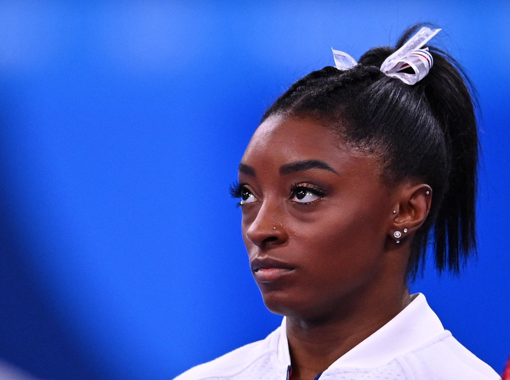 Tokyo 2020 Olympics - Gymnastics - Artistic - Women's Team - Final - Ariake Gymnastics Centre, Tokyo, Japan - July 27, 2021. Simone Biles of the United States during the Women's Team Final REUTERS/Dylan Martinez