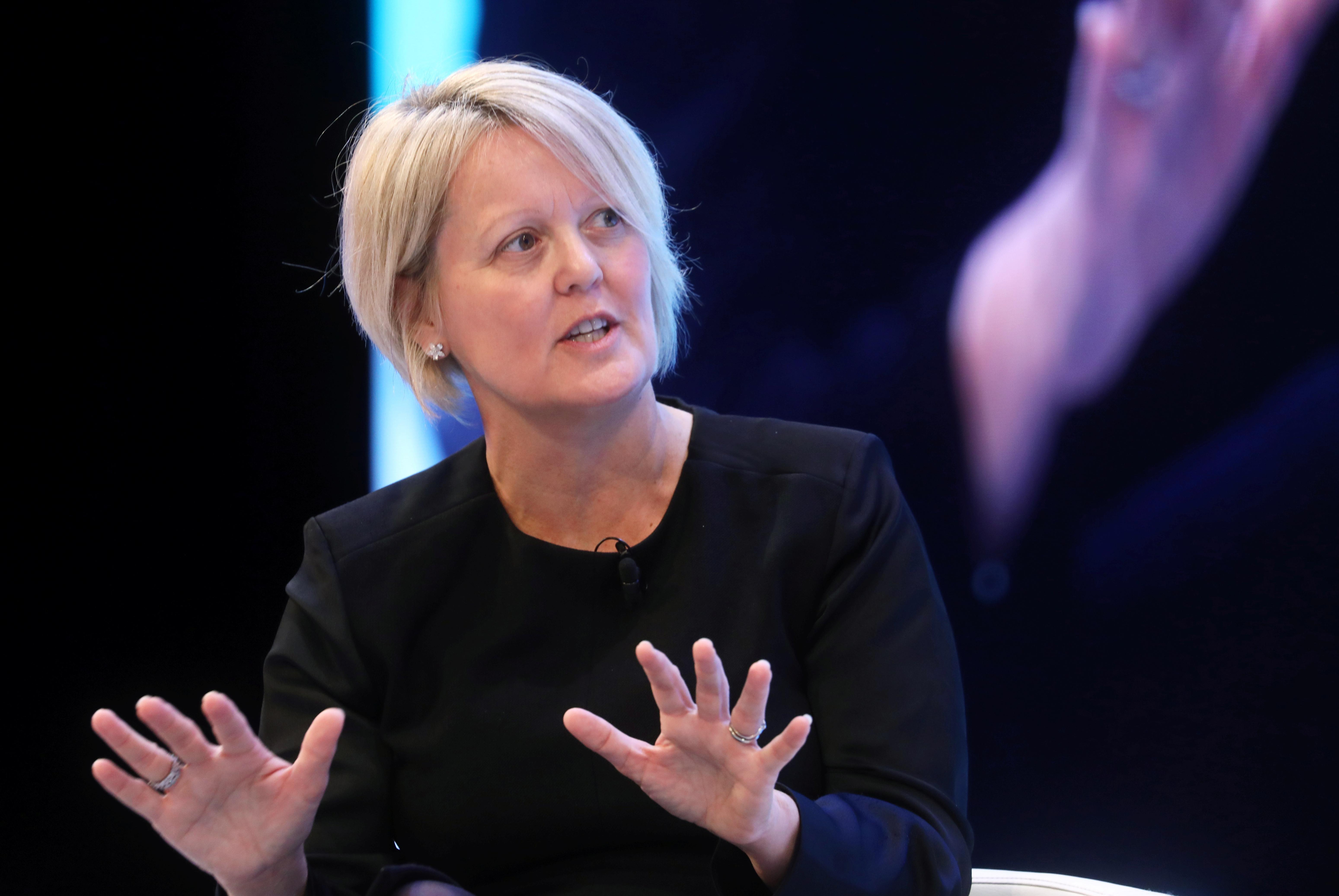 RBS CEO Alison Rose attends the annual CBI Conference in London, Britain November 18, 2019.