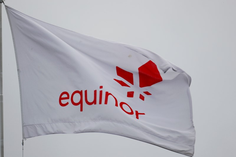 Equinor's flag in Stavanger, Norway December 5, 2019. REUTERS/Ints Kalnins/File Photo
