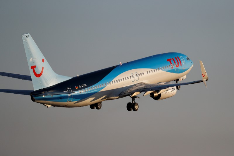 A Tui plane takes off from an airport in Palma de Mallorca, Spain, July 29, 2018. REUTERS/Paul Hanna