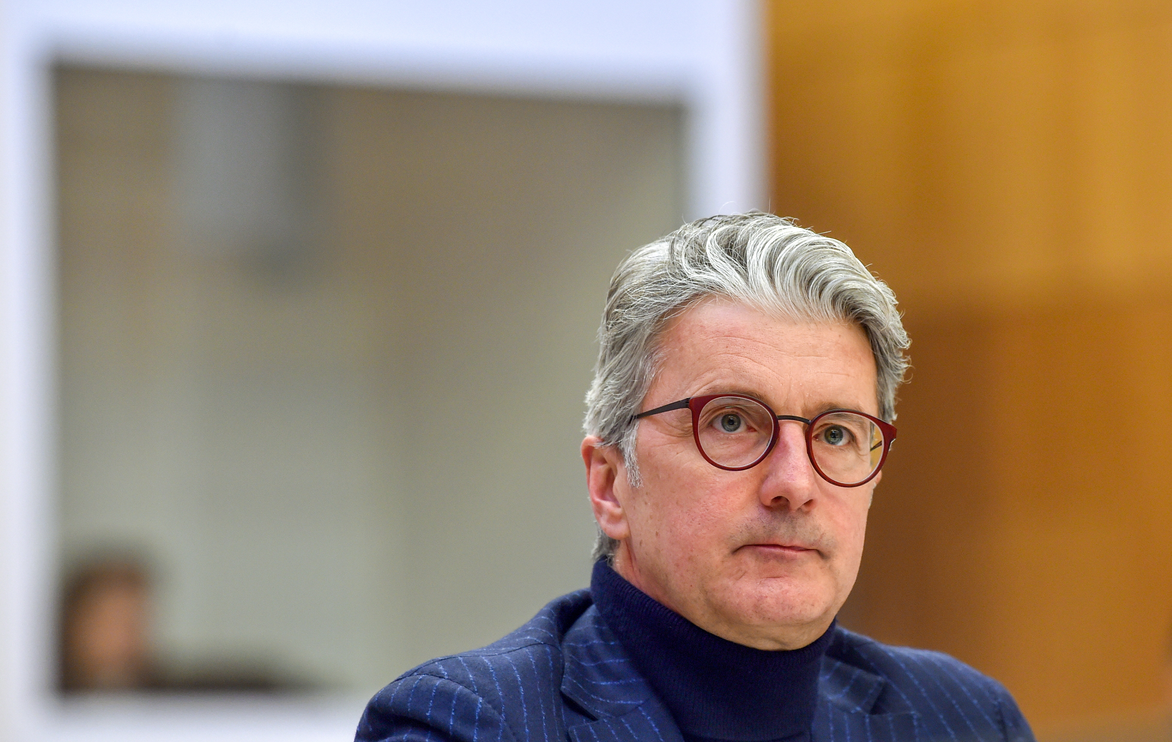 Rupert Stadler, former CEO of German car manufacturer Audi, waits for the start of a trial day at the regional court in Munich, Germany January 12, 2021. Christof Stache/Pool via REUTERS