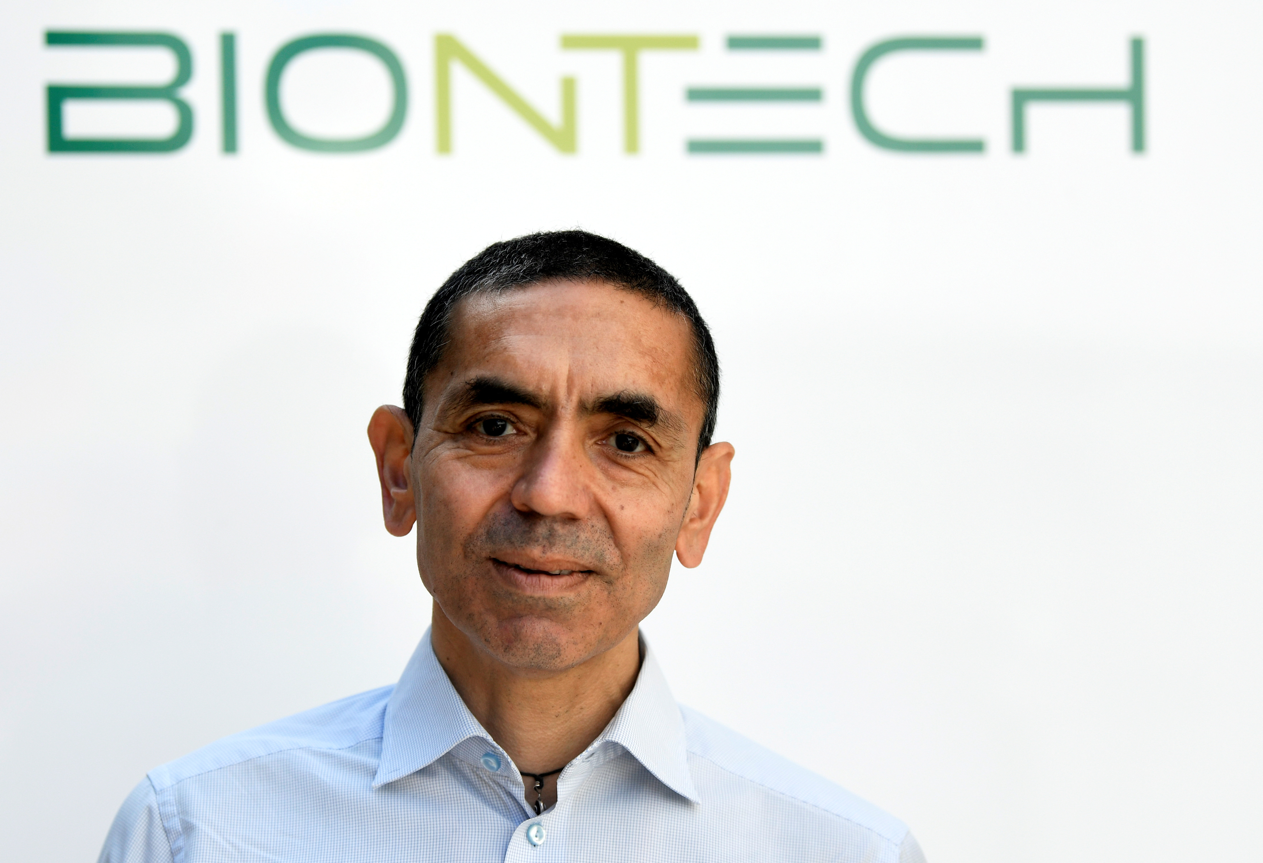 Ugur Sahin, CEO and co-founder of German biotech firm BioNTech, is interviewed by journalists in Marburg, Germany September 17, 2020. REUTERS/Fabian Bimmer/File Photo