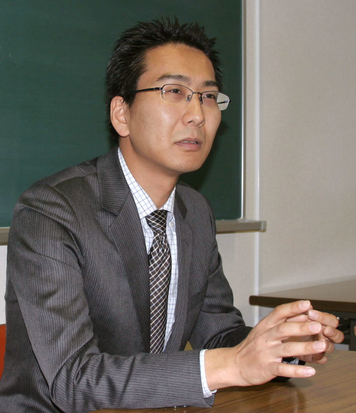 Japanese journalist Yuki Kitazumi speaks during an interview in Fukuoka, southwestern Japan, April 1, 2013, in this photo released by Kyodo. Picture taken on April 1, 2013. Kyodo/via REUTERS