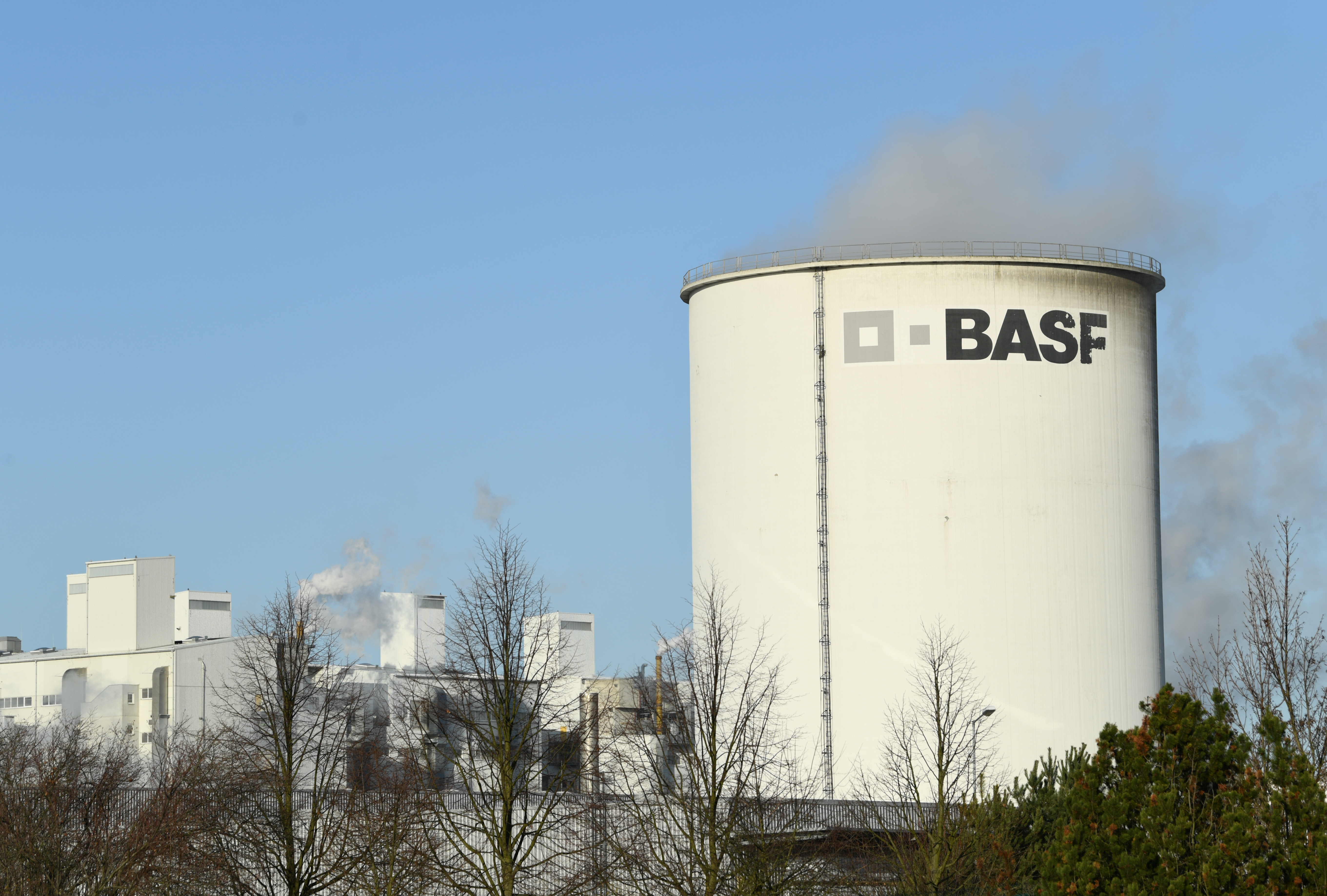 A general view of the German chemical company, BASF Schwarzheide GmbH in Schwarzheide, Germany, December 10, 2019. REUTERS/Annegret Hilse