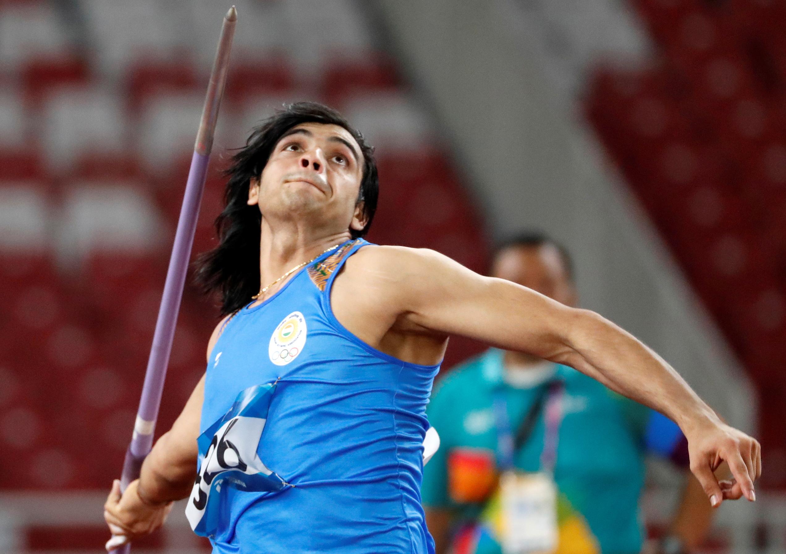 Athletics - 2018 Asian Games - Men's Javelin Throw, Final - GBK Main Stadium, Jakarta, Indonesia - August 27, 2018 - Neeraj Chopra of India in action. REUTERS/Issei Kato
