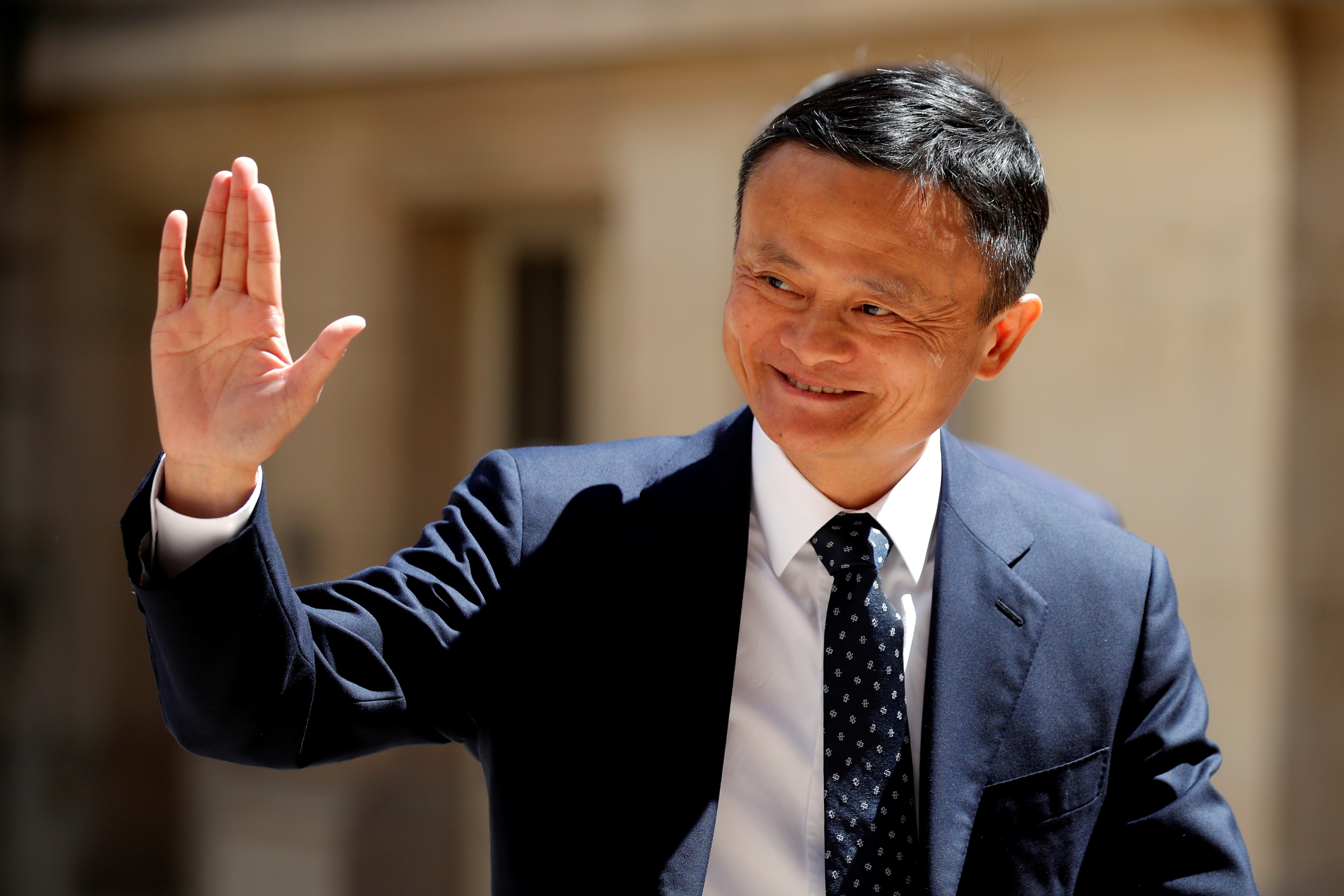 Jack Ma, chairman of Alibaba Group arrives at the