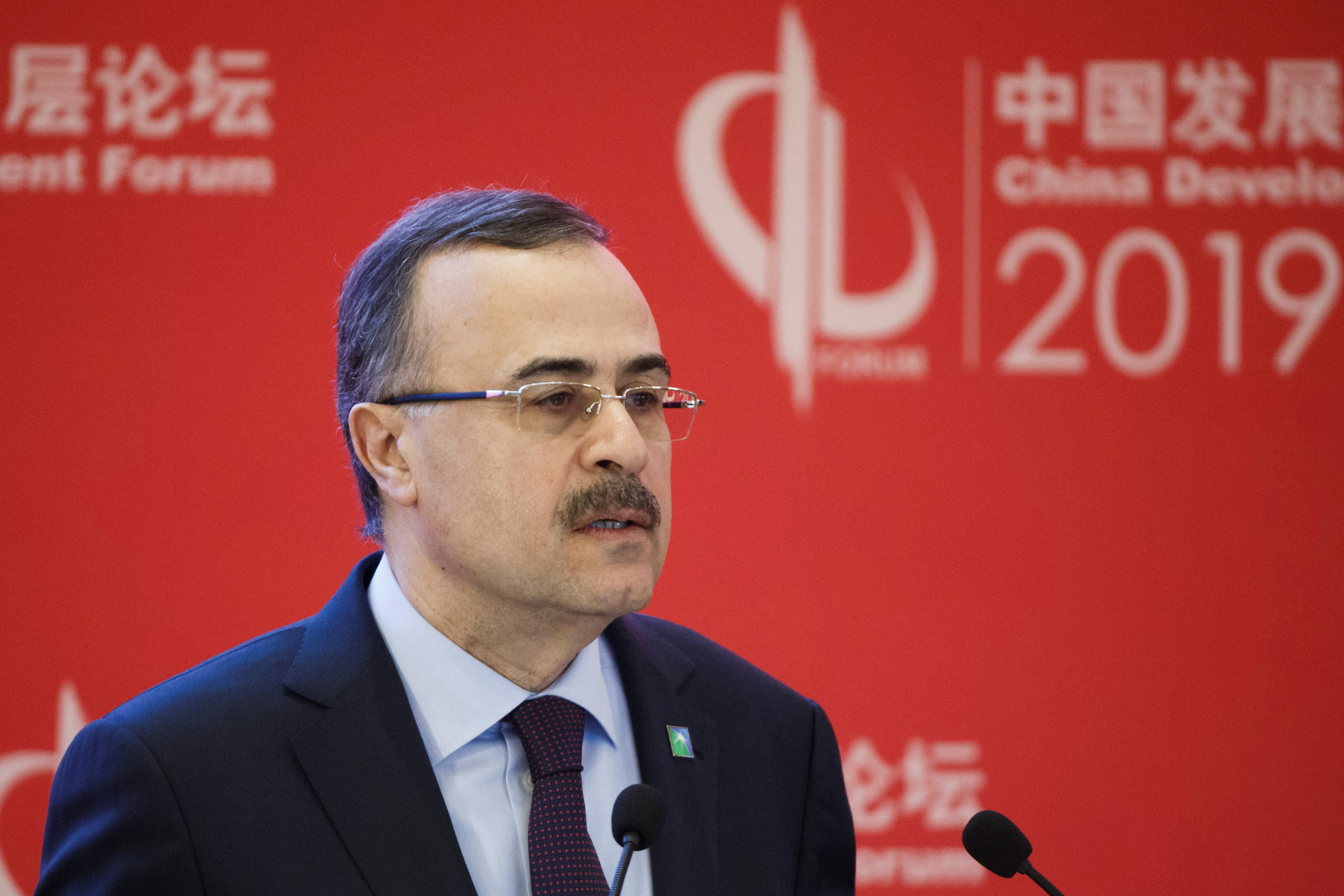 Saudi Aramco CEO Amin H. Nasser attends the China Development Forum in Beijing, China, March 25, 2019. REUTERS/Thomas Peter/File Photo