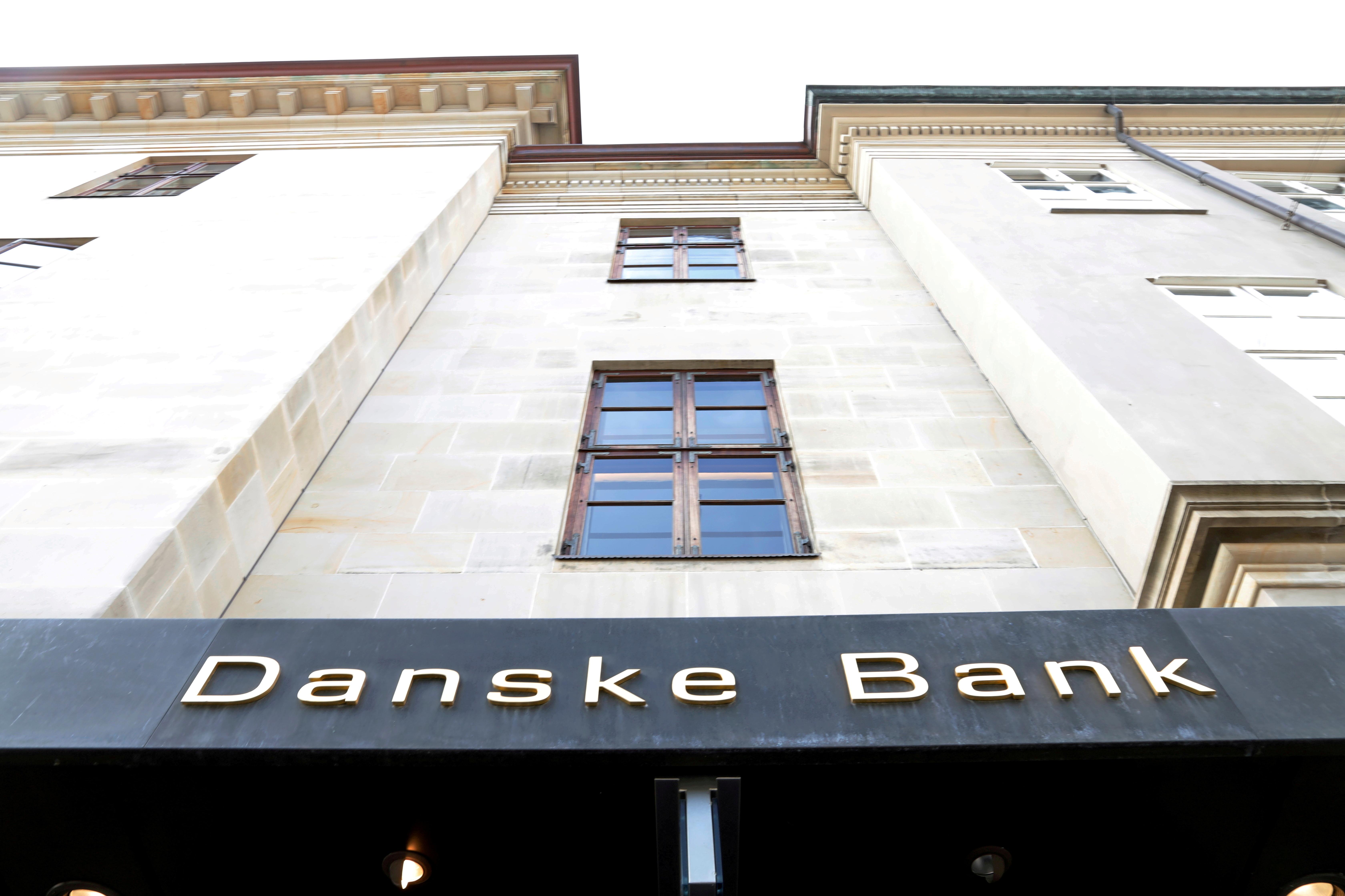 A Danske bank sign is seen on a bank's headquarters in Copenhagen, Denmark October 22, 2019. REUTERS/Jacob Gronholt-Pedersen