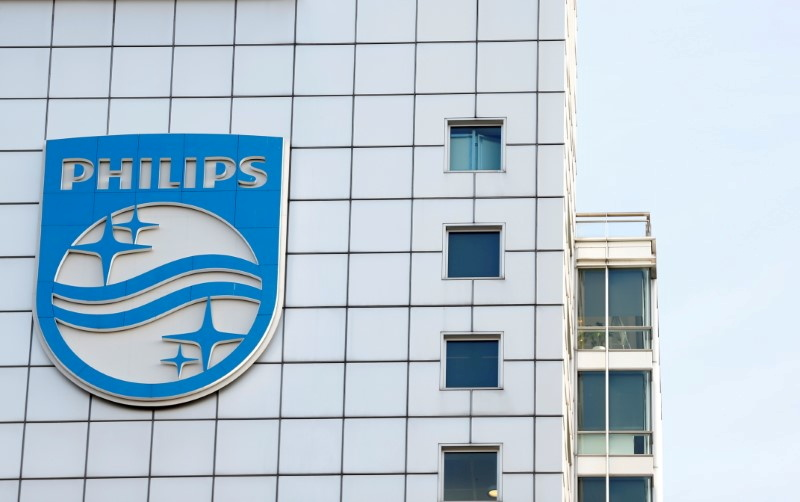 Logo of Dutch technology company Philips is seen at its company headquarters in Amsterdam, Netherlands, January 29, 2019. REUTERS/Eva Plevier/File Photo