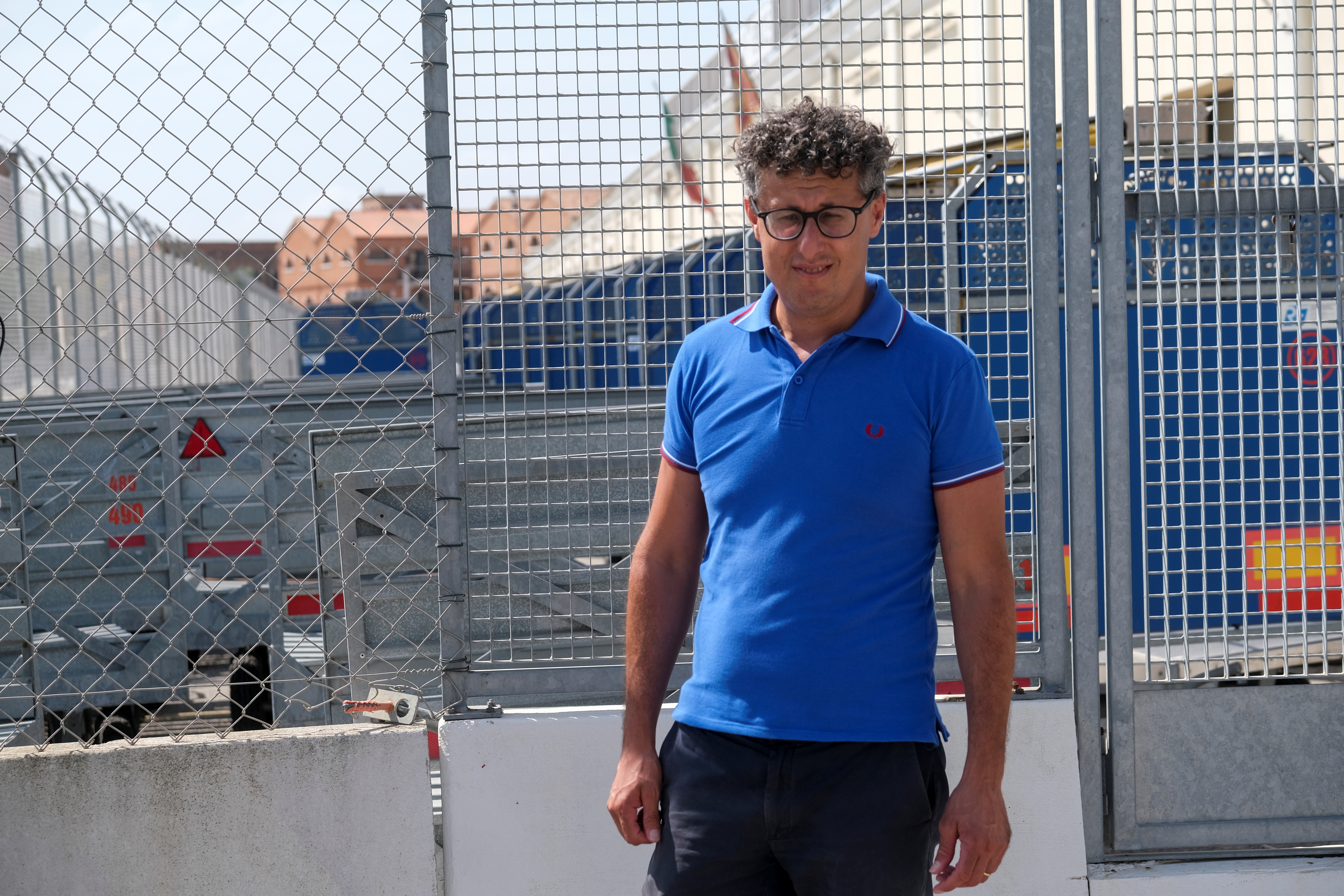 Antonio Velleca from the porters cooperative, attends an interview as Venice gears up for a ban on cruise liners that becomes effective on August 1, moving to end years of hesitation and putting the demands of residents and culture bodies above those of the tourist industry, in Venice, Italy, July 27, 2021.  REUTERS/Manuel Silvestri