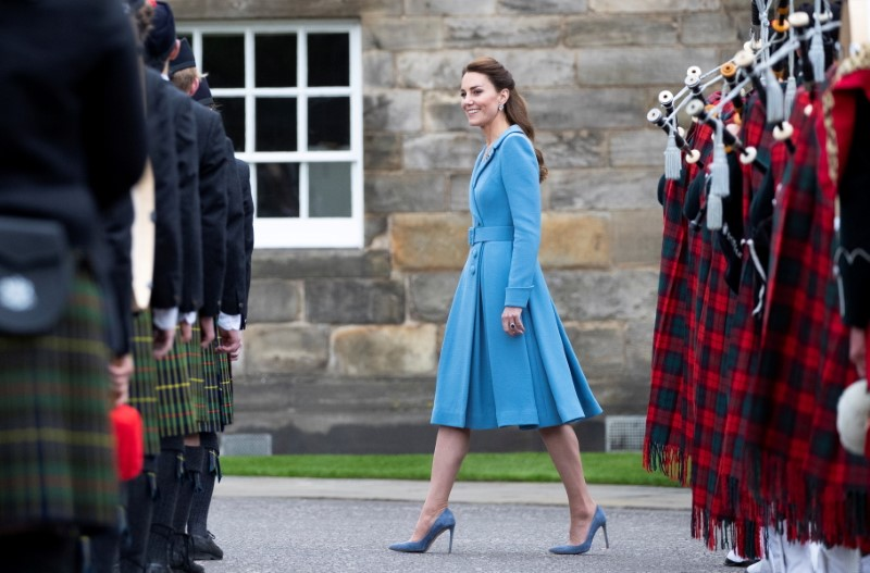 Britain's Catherine, Duchess of Cambridge attends a Beating of the Retreat at Holyroodhouse Palace in Edinburgh, Scotland, Britain May 27, 2021. Jane Barlow/PA Wire/Pool via REUTERS/File Photo