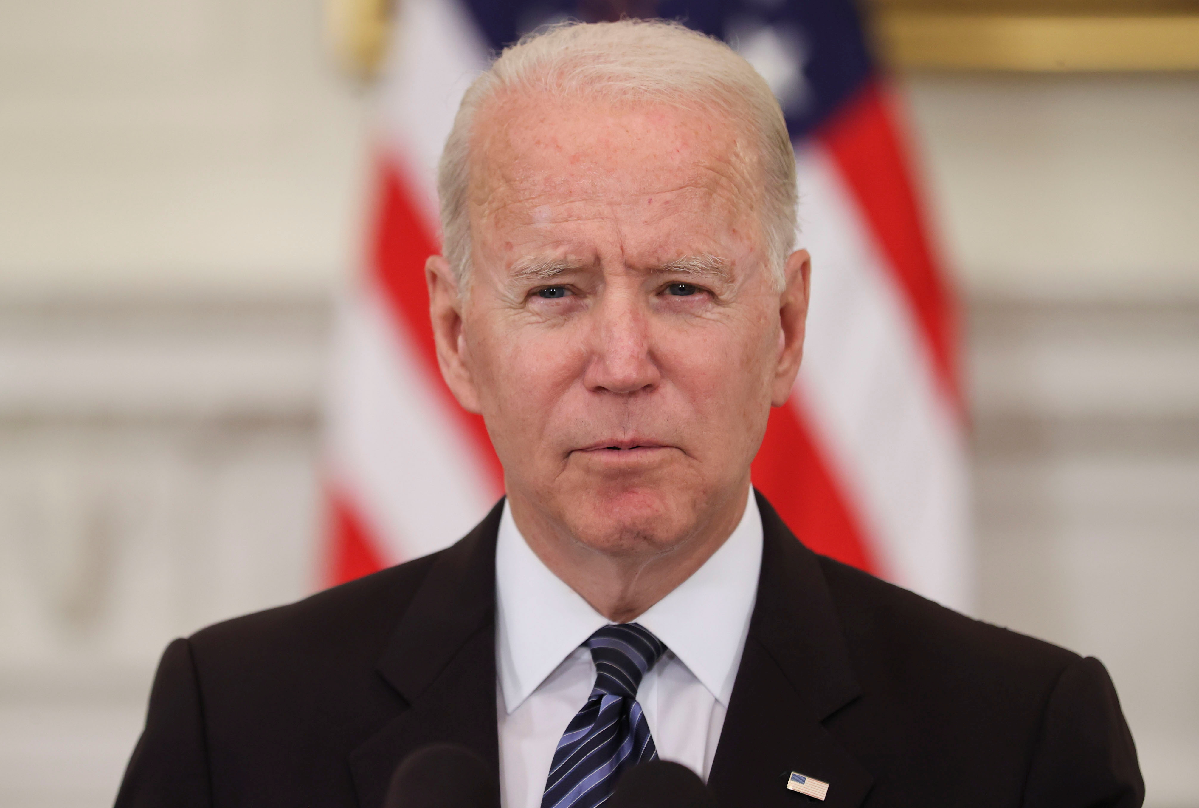 President Biden delivers remarks after a roundtable discussion with advisors on steps to curtail U.S. gun violence, at the White House in Washington, June 23, 2021. REUTERS/Jonathan Ernst