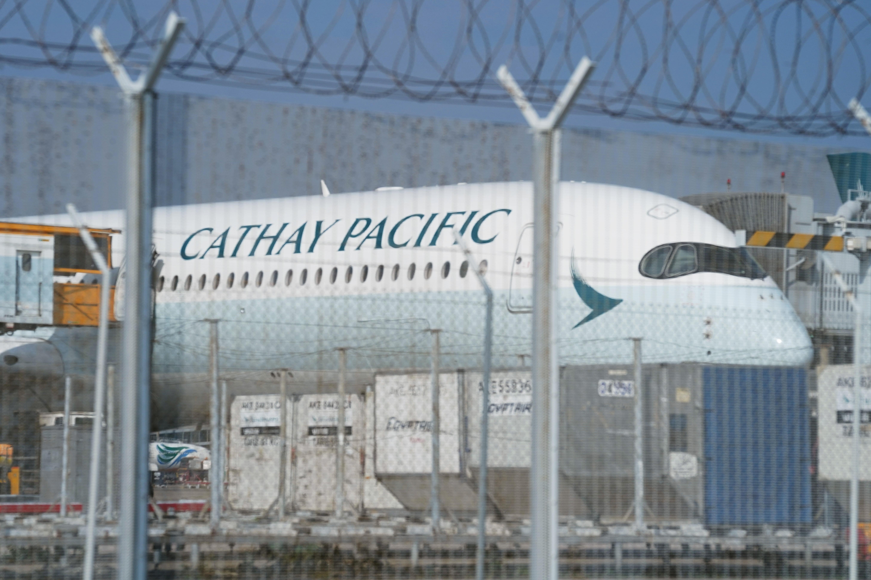 Cathay Pacific aircraft is seen at Hong Kong International Airport, China October 20, 2020. REUTERS/Lam Yik/File Photo