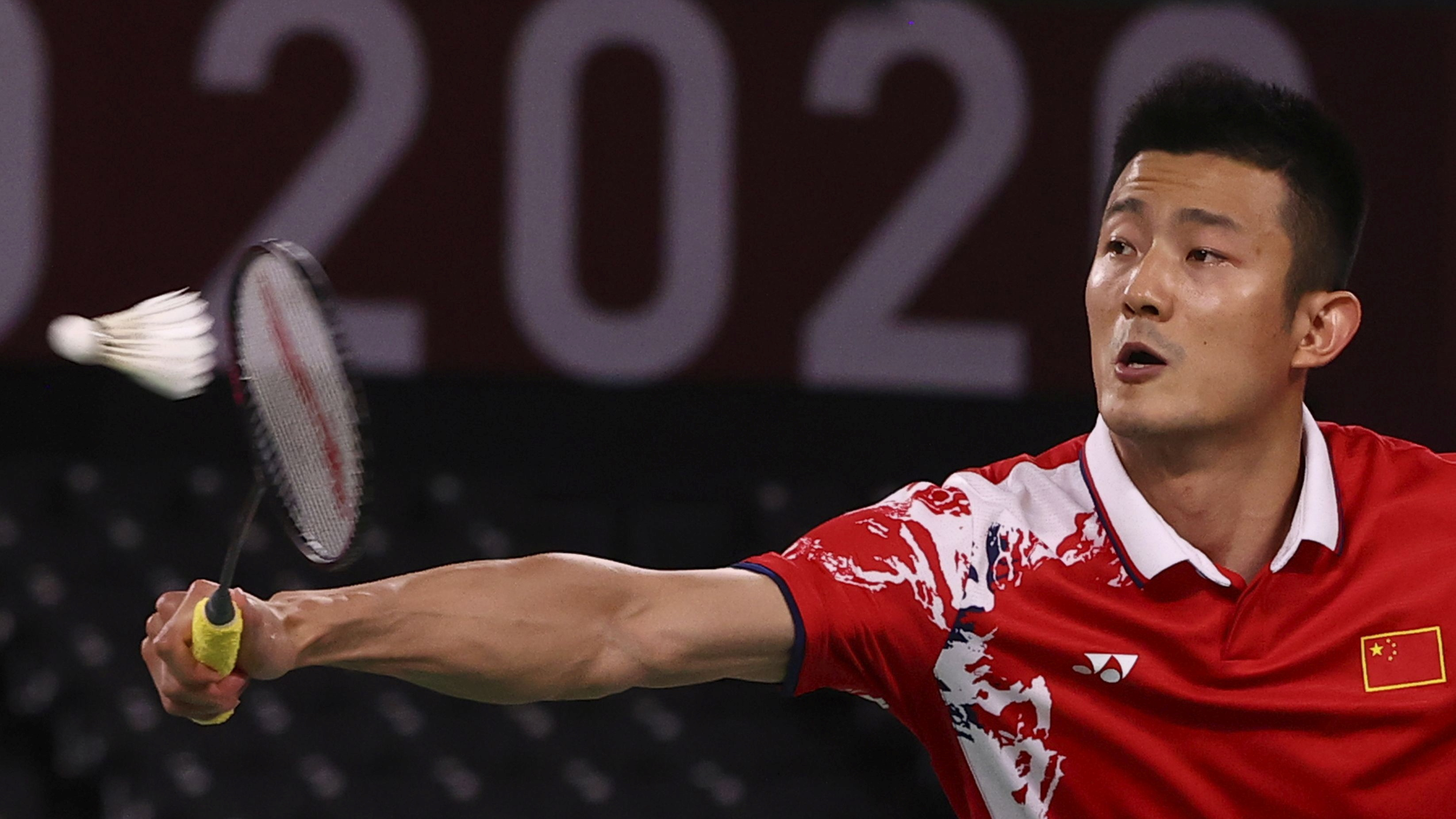 Tokyo 2020 Olympics - Badminton - Men's Singles - Quarterfinal - MFS - Musashino Forest Sport Plaza, Tokyo, Japan – July 31, 2021. Chen Long of China in action during the match against Chou Tien-Chen of Taiwan. REUTERS/Leonhard Foeger