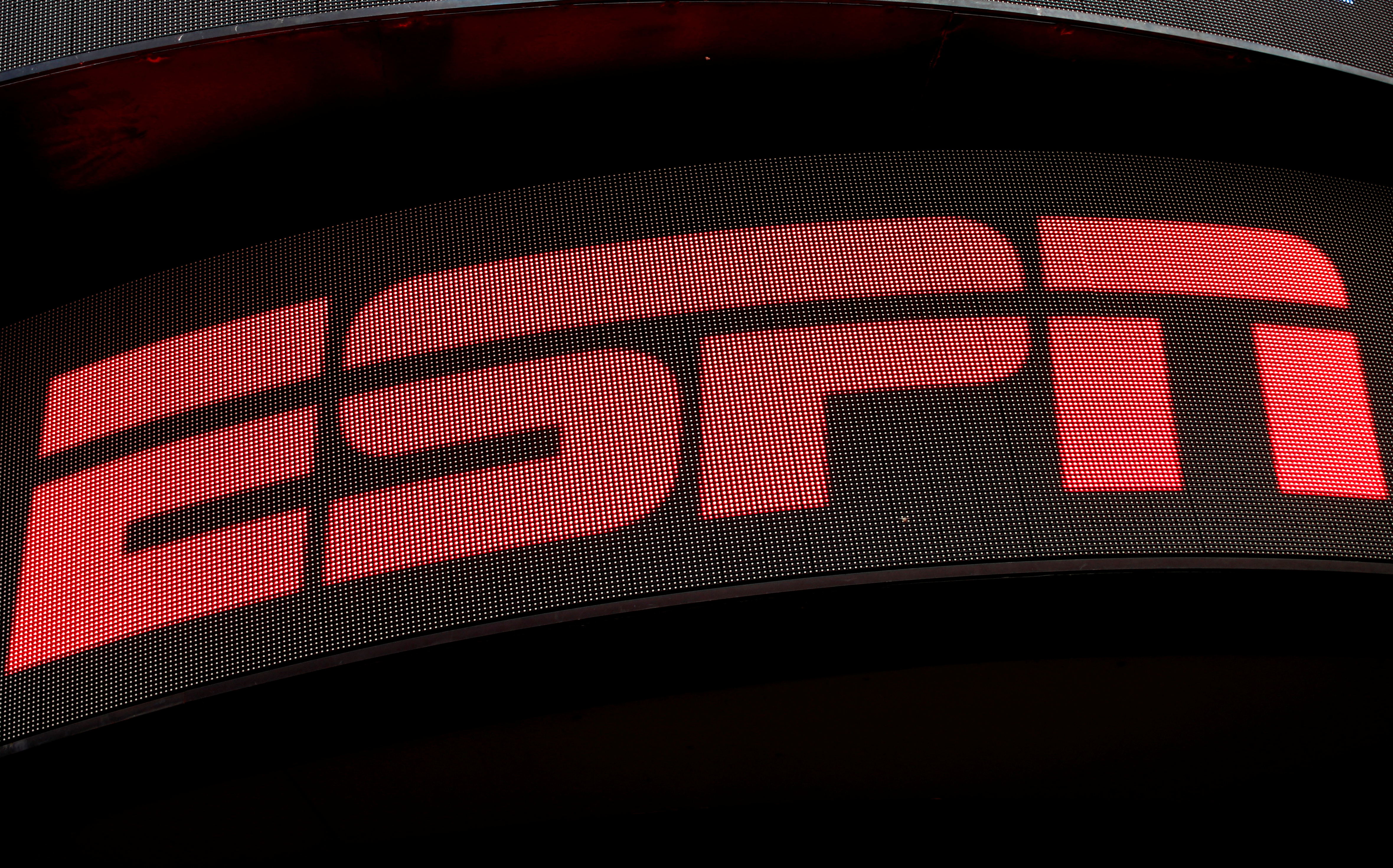 The ESPN logo is seen on an electronic display in Times Square in New York City, U.S., August 23, 2017.  REUTERS/Mike Segar