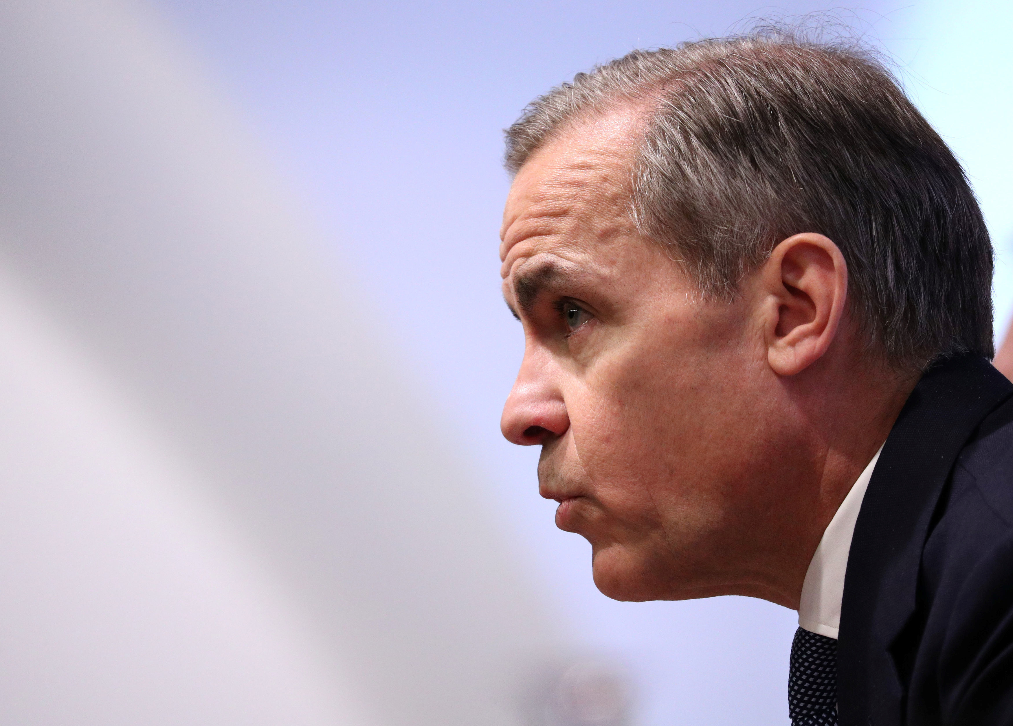 Governor Mark Carney during the Bank of England's Monetary Policy Report news conference in the City of London, Britain January 30, 2020. Jonathan Brady/Pool via REUTERS