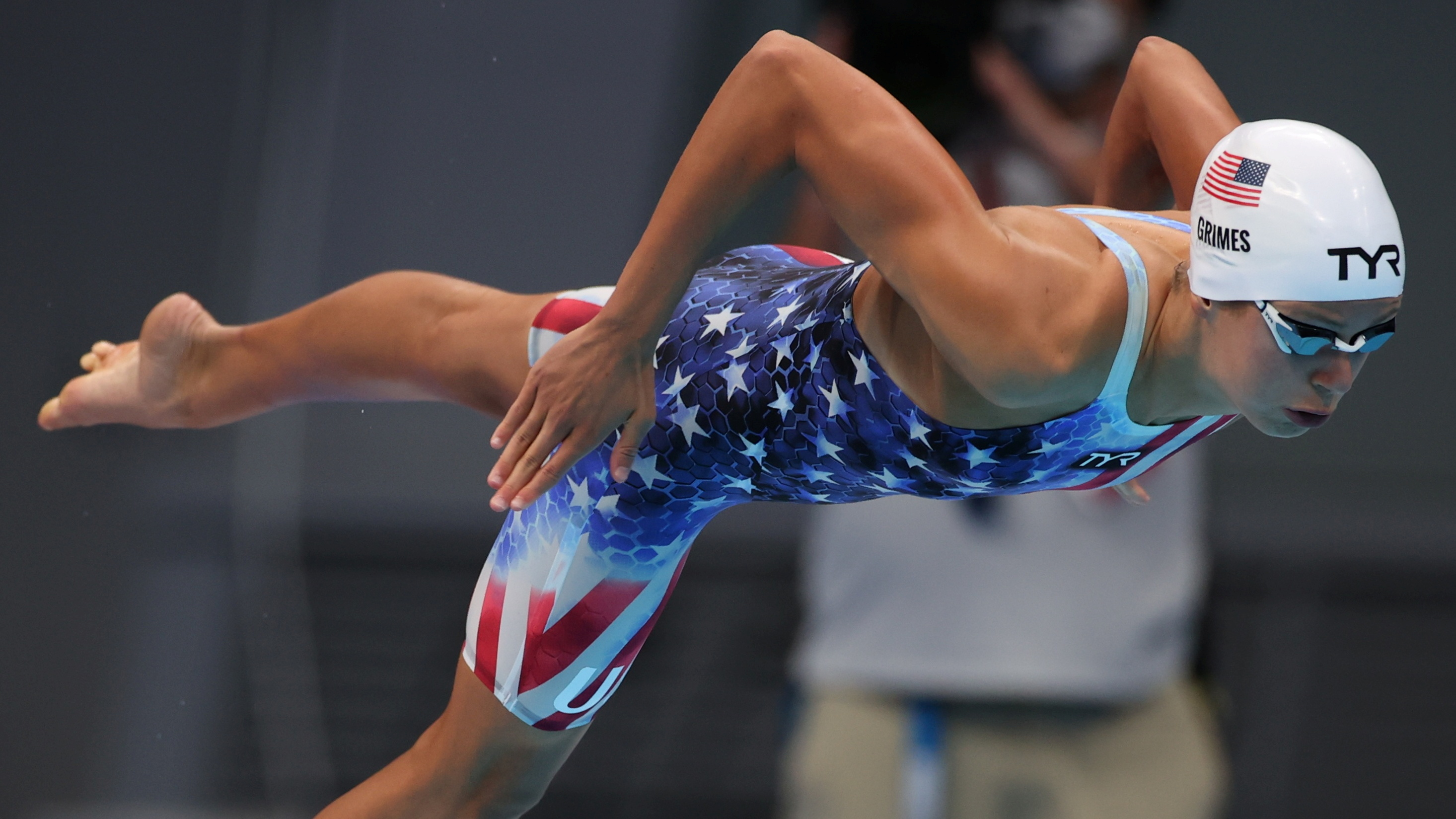 Tokyo 2020 Olympics - Swimming - Women's 800m Freestyle - Heats - Tokyo Aquatics Centre - Tokyo, Japan - July 29, 2021. Kathleen Ledecky of the United States in action REUTERS/Molly Darlington