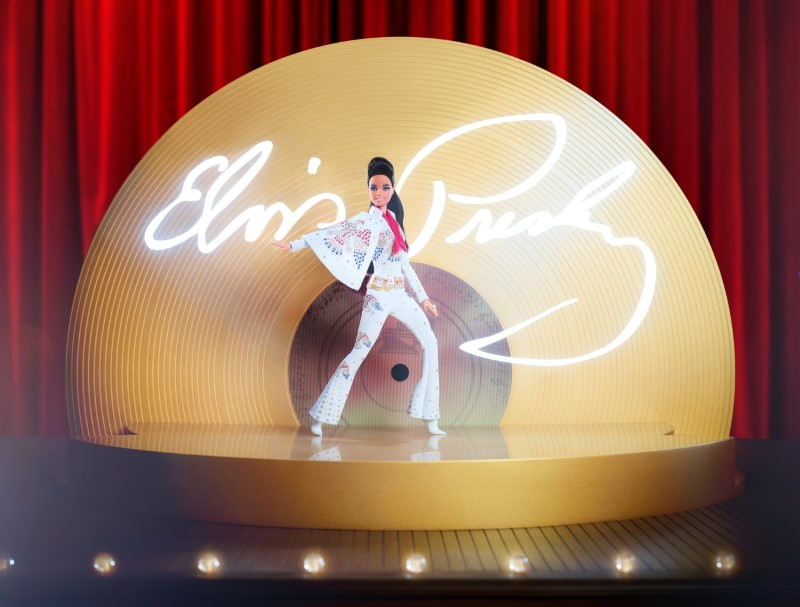 A special edition Elvis Barbie doll is seen in this picture obtained by Reuters on August 10, 2021. Mattel/Handout via REUTERS