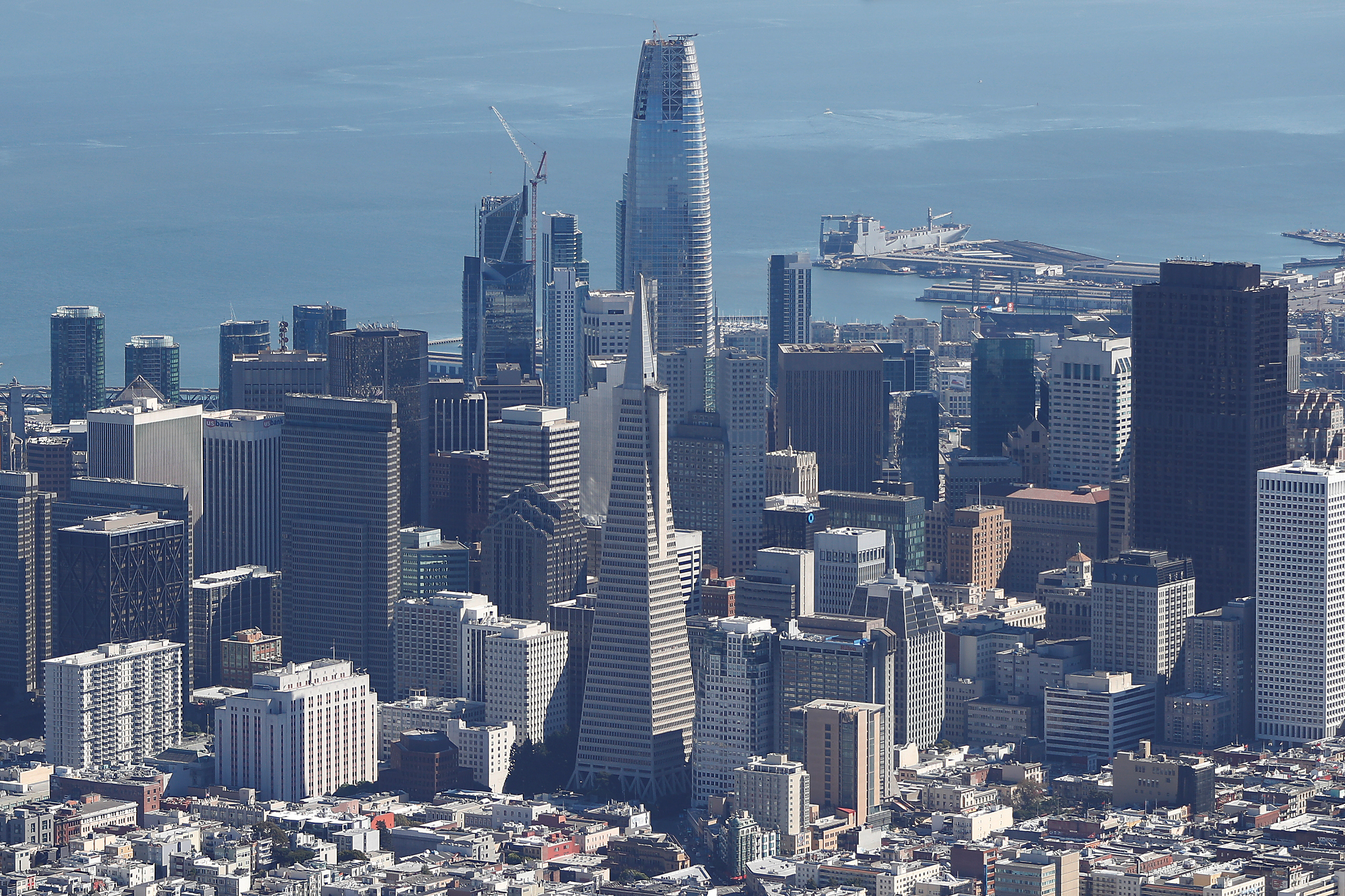An aerial view of San Francisco is seen in San Francisco, California, U.S., October 5, 2017. REUTERS/Stephen Lam