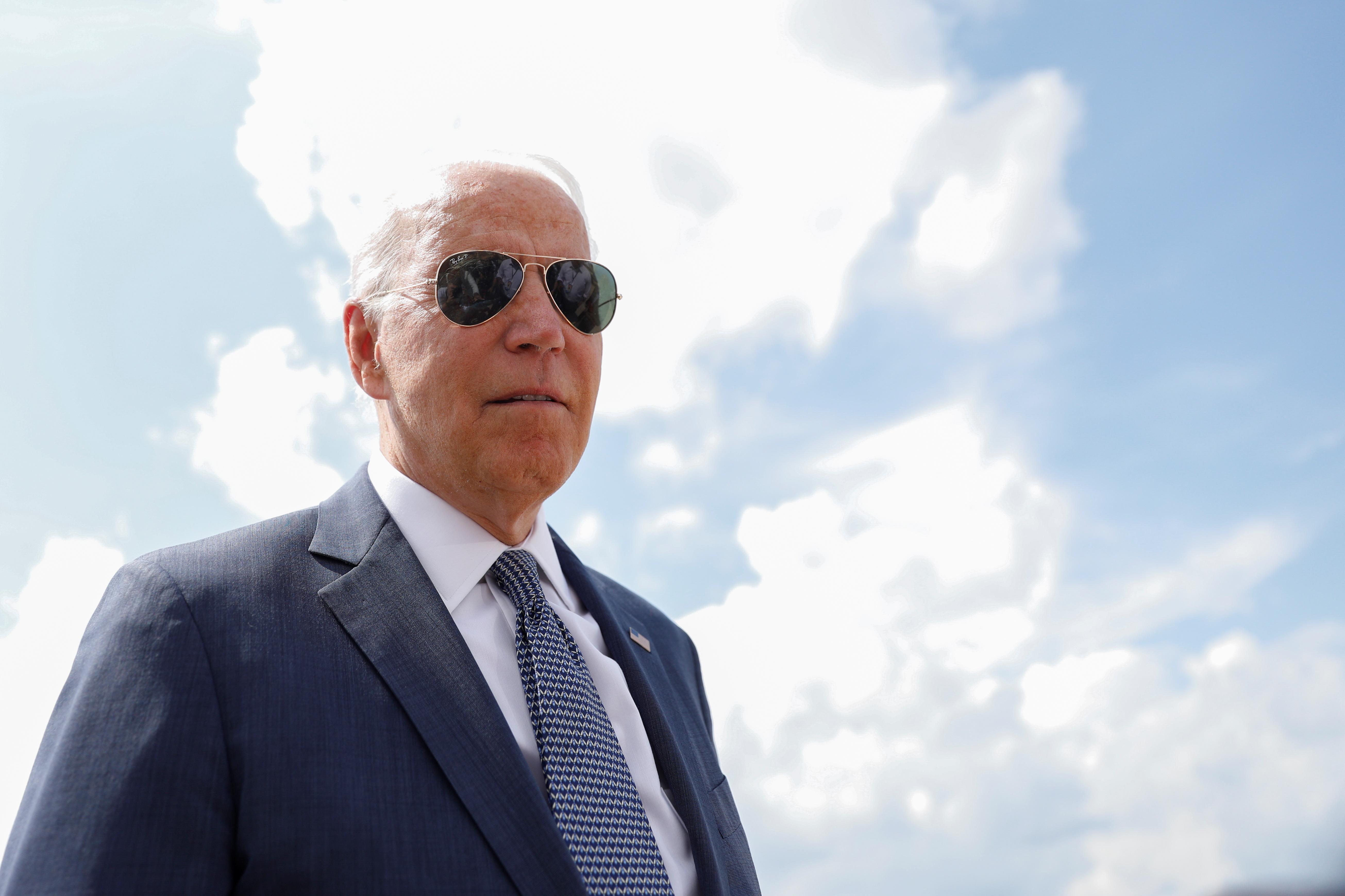 U.S. President Joe Biden walks to board Air Force One at Joint Base Andrews in Maryland, U.S., July 9, 2021. REUTERS/Tom Brenner