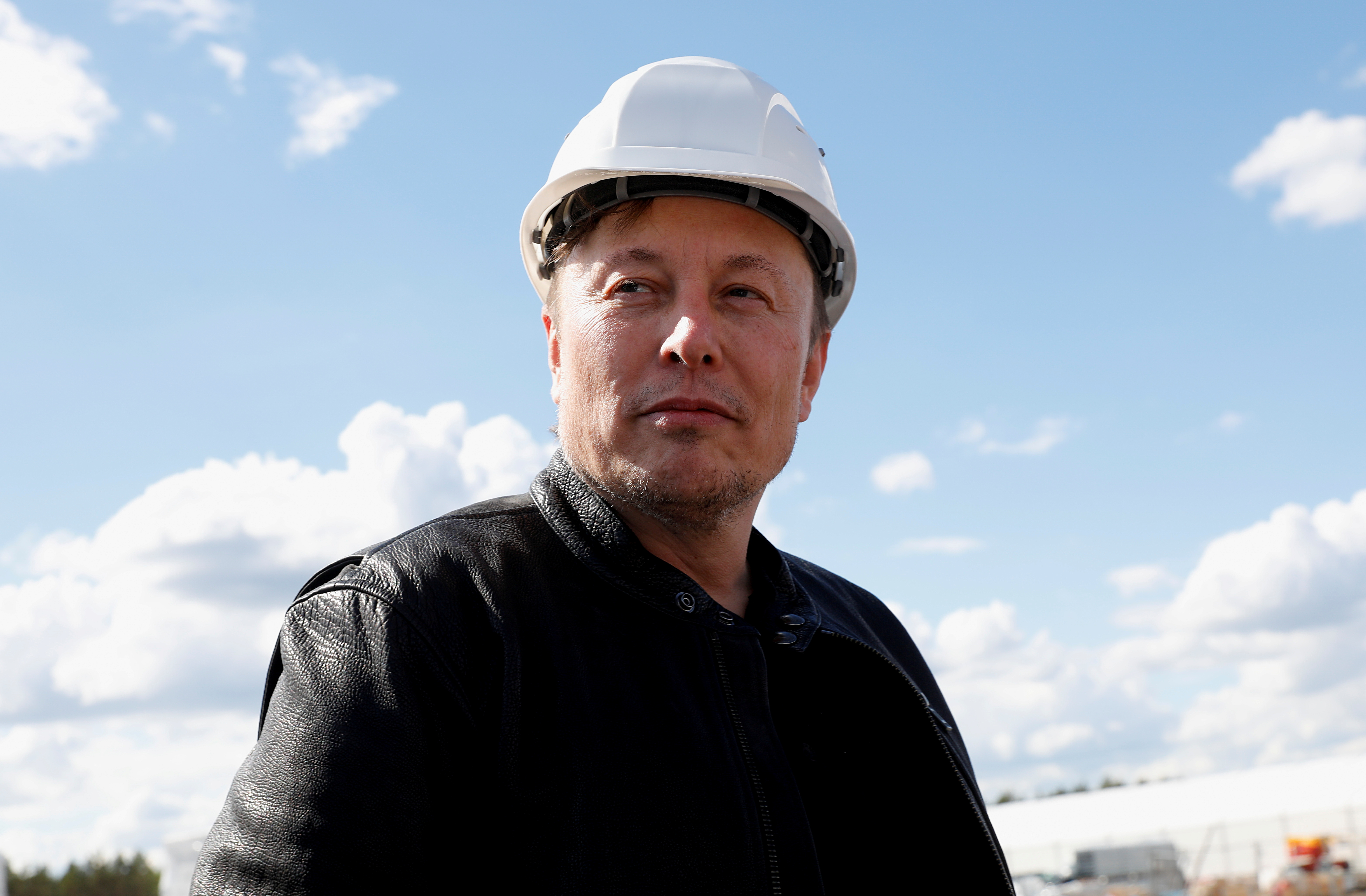 SpaceX founder and Tesla CEO Elon Musk visits the construction site of Tesla's gigafactory in Gruenheide, near Berlin, Germany, May 17, 2021. REUTERS/Michele Tantussi/File Photo