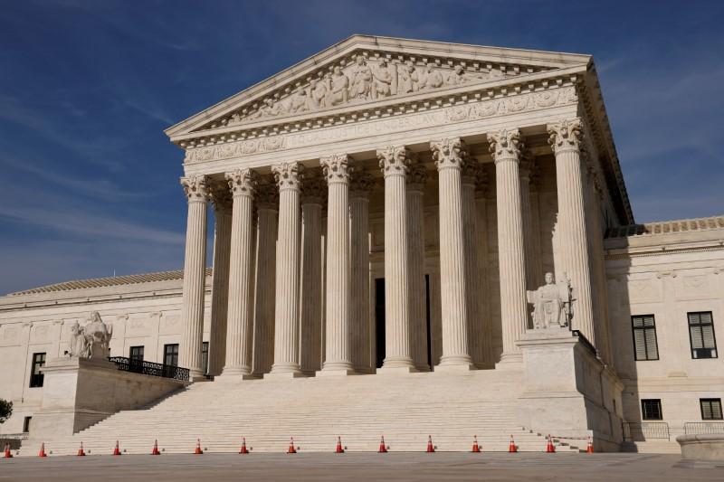 The U.S. Supreme Court building in Washington, U.S. May 17, 2021.  REUTERS/Jonathan Ernst/File Photo