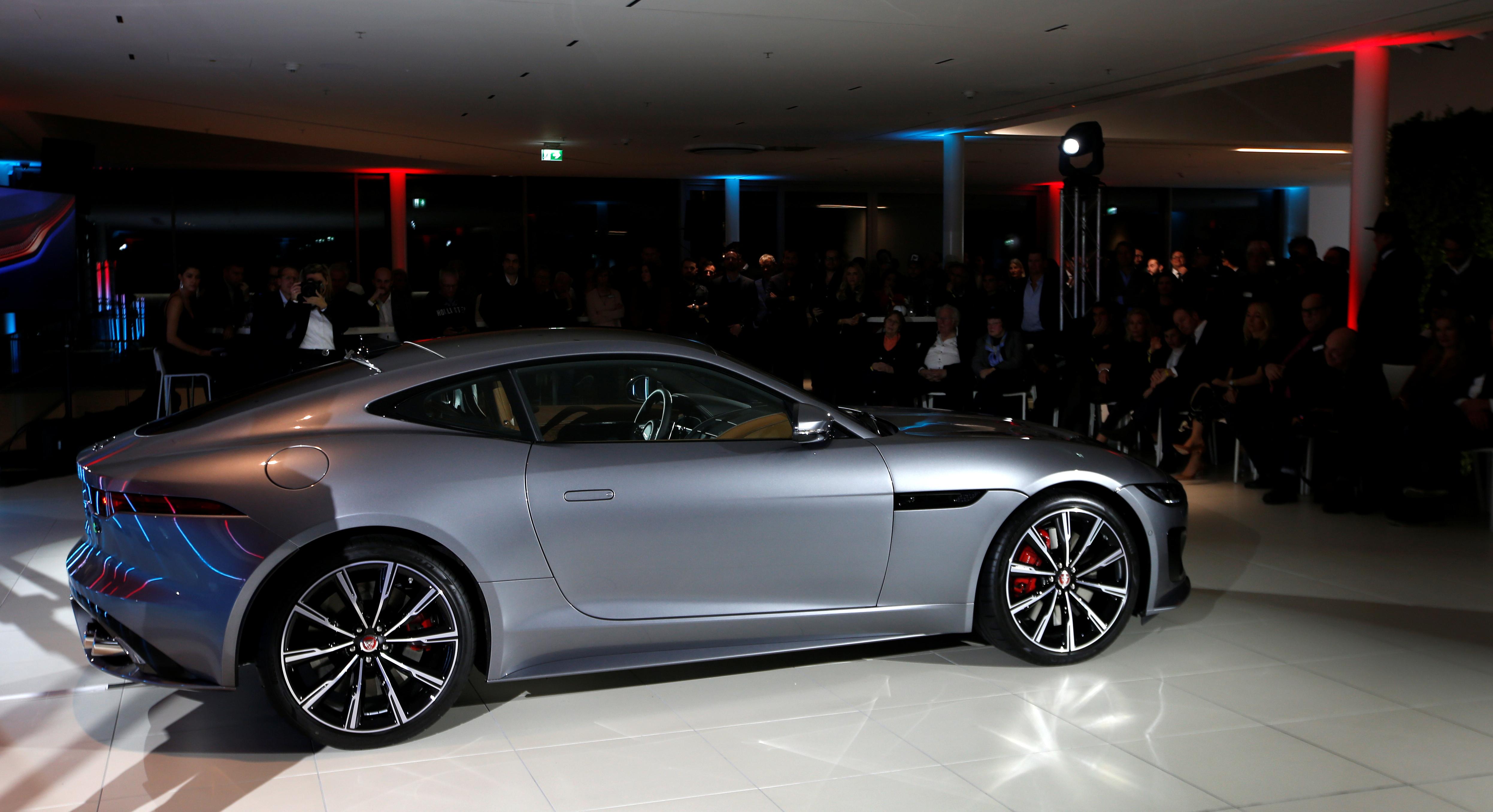 Jaguar Land Rover unveils the new Jaguar F-Type model during its world premiere in Munich, Germany, December 2, 2019. REUTERS/Michaela Rehle
