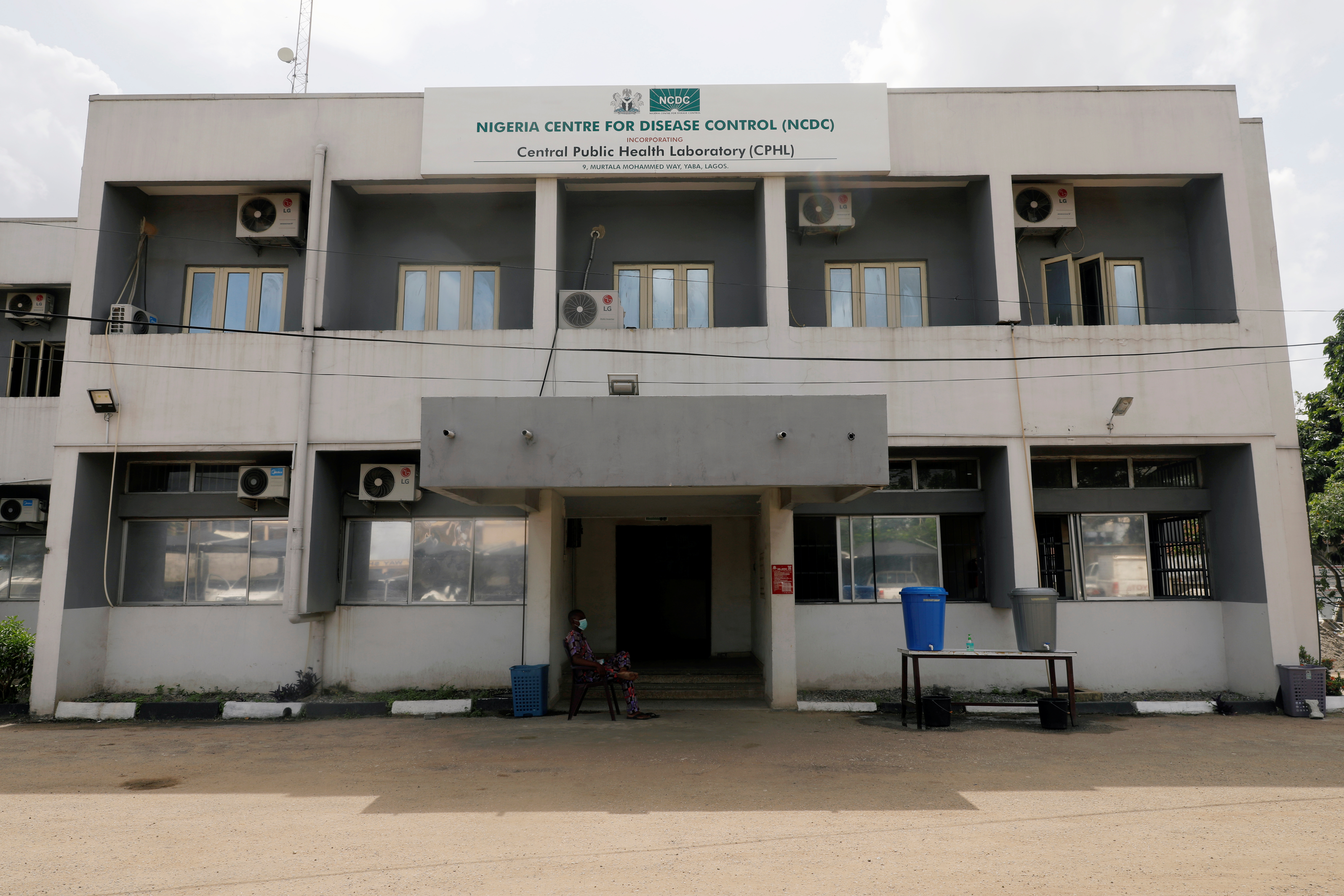 A building of the Nigeria Centre For Disease Control (NCDC) is pictured, amid the spread of the coronavirus disease (COVID-19), in Lagos, Nigeria May 7, 2020.   REUTERS/Temilade Adelaja